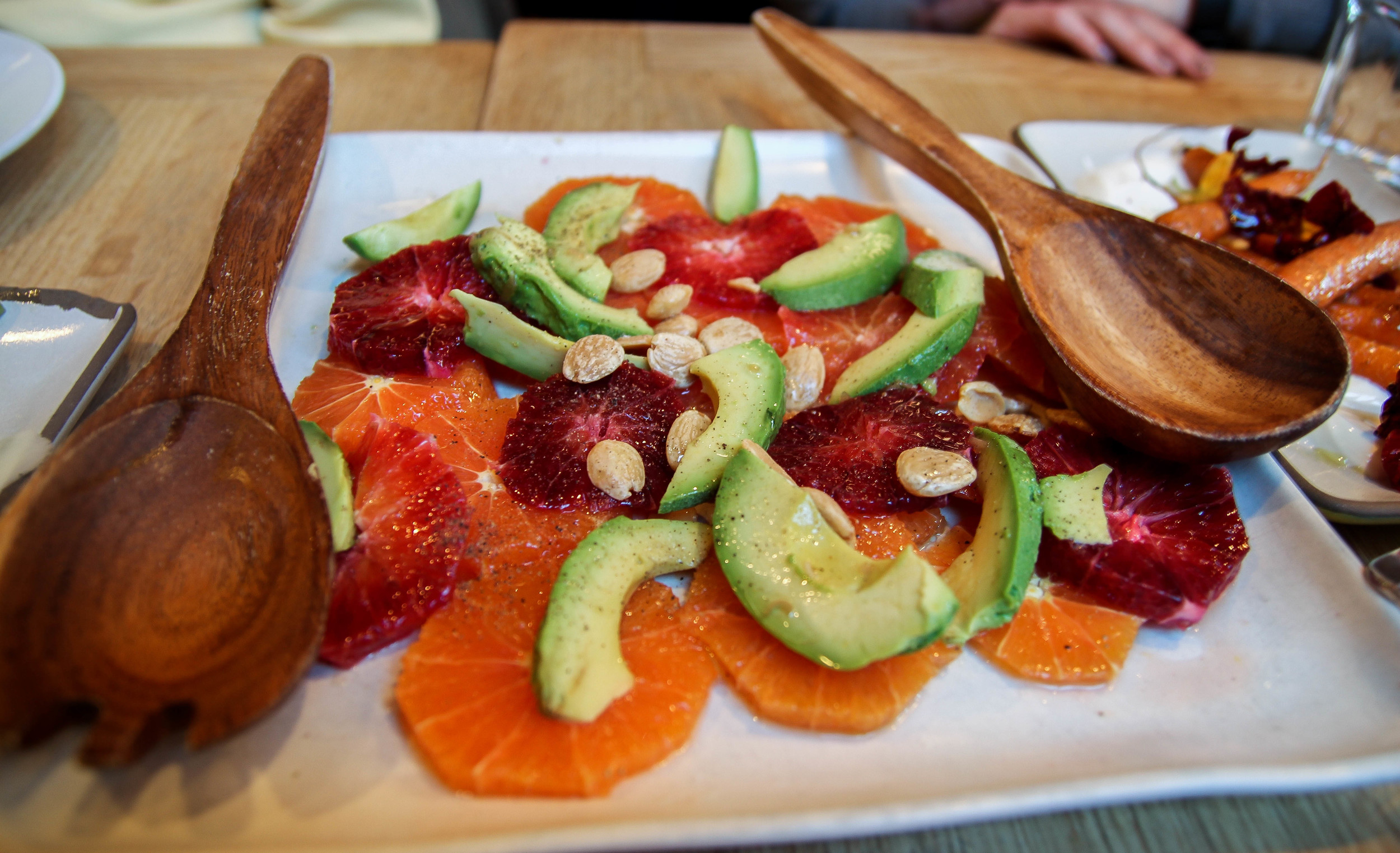 Citrus salad with avocado and Marcona almonds