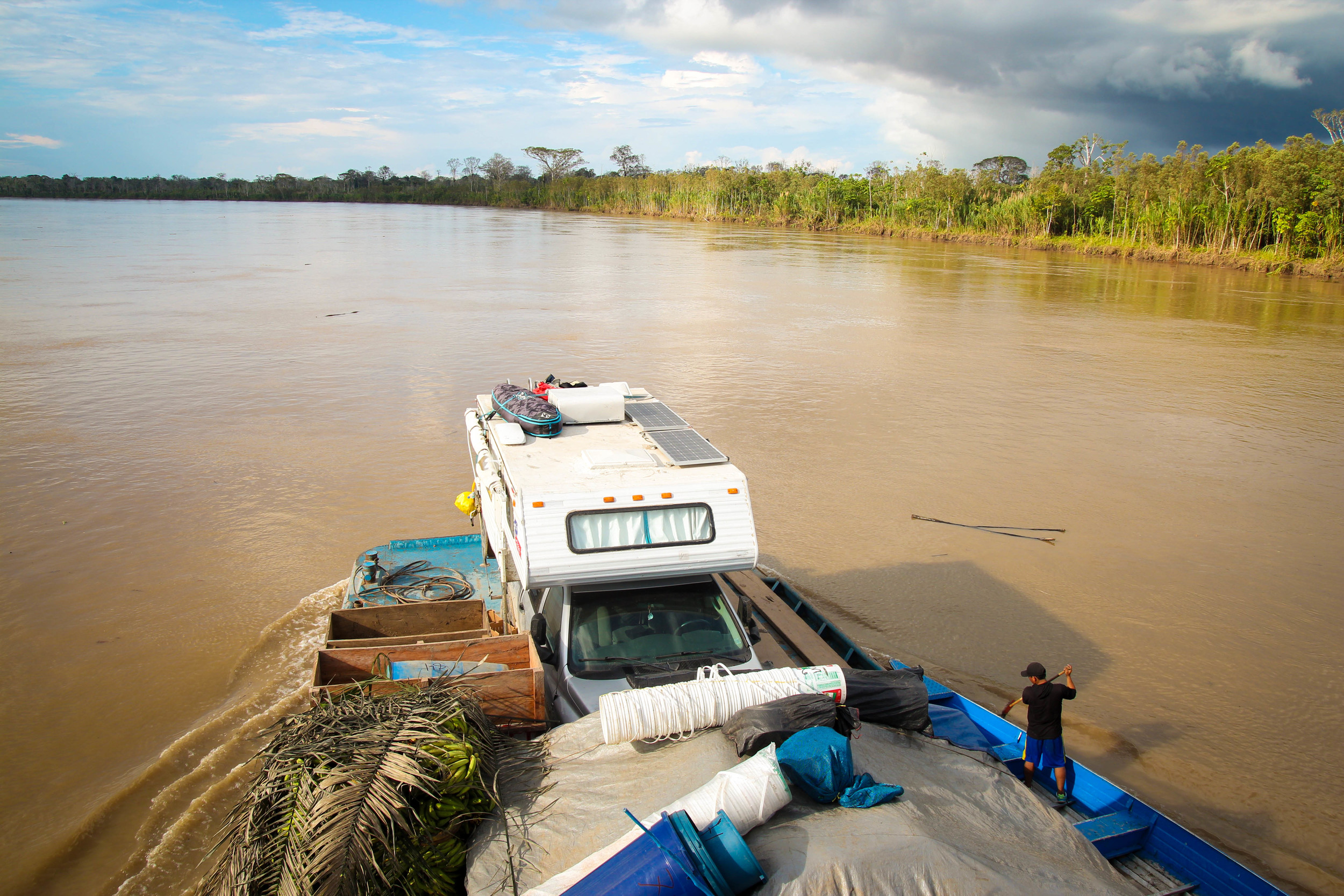 The Amazon River is massive, curvy, and murky.
