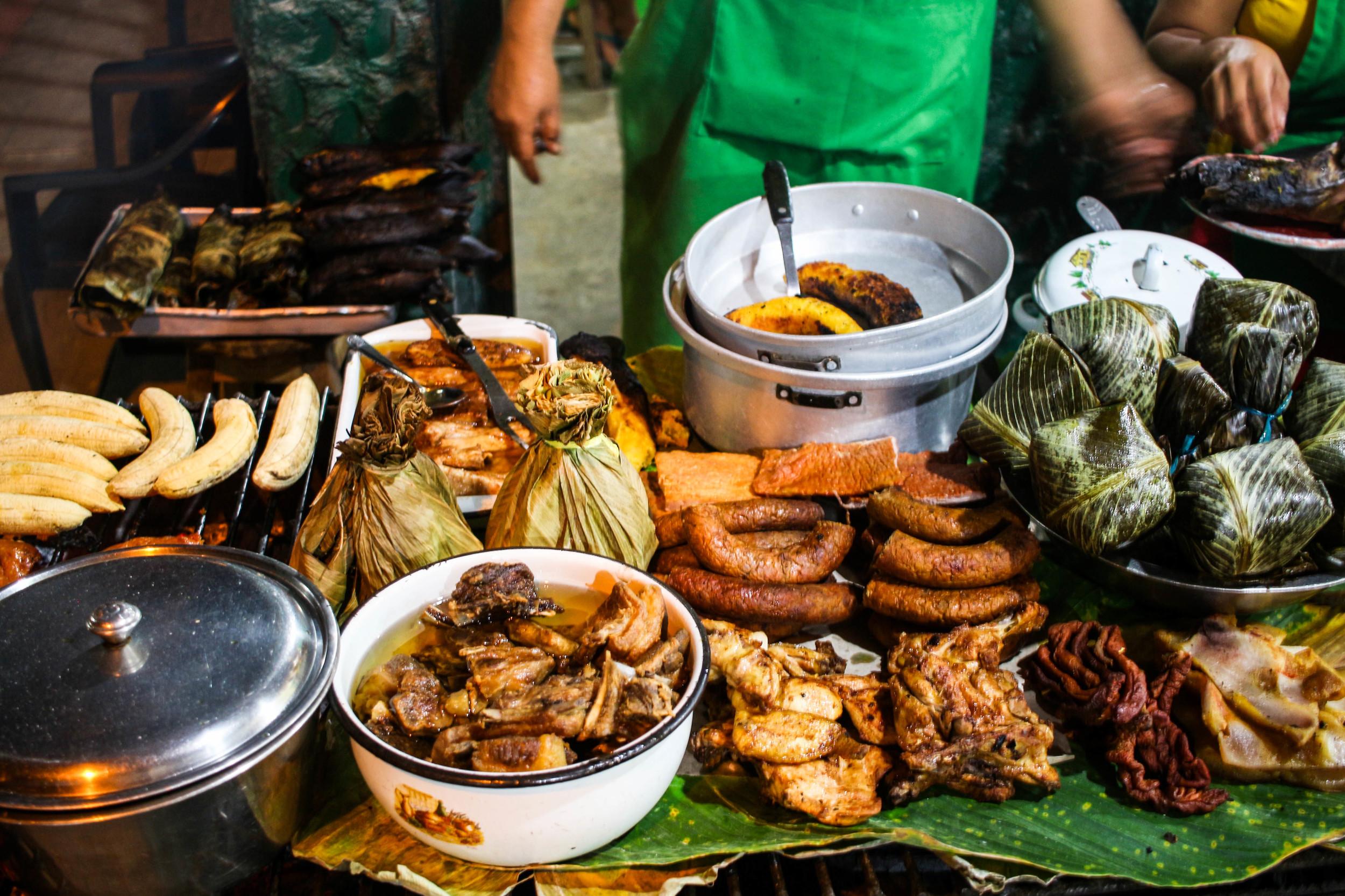 Restaurant in Tarapoto, Peru serving up a jungle feast.
