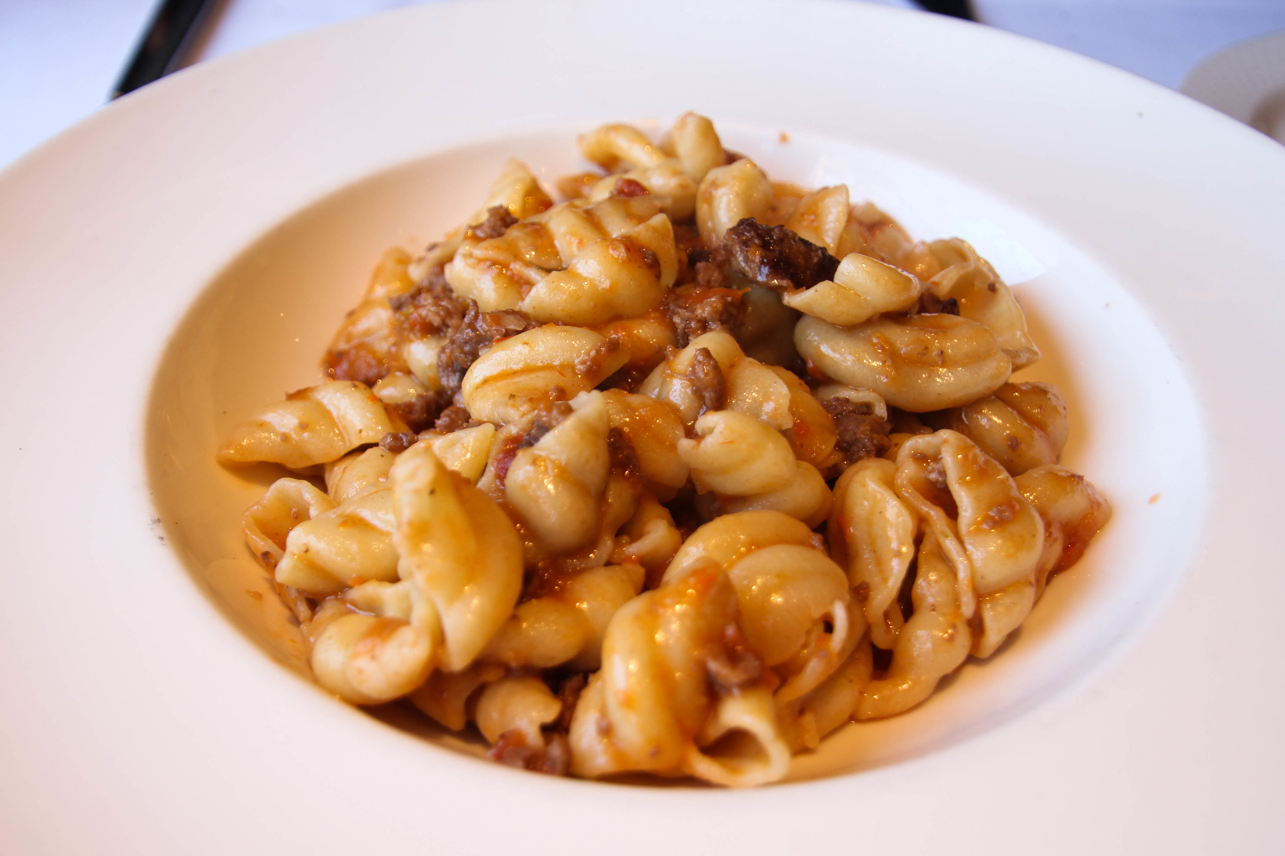 Community Grains pasta with rabbit in bianco