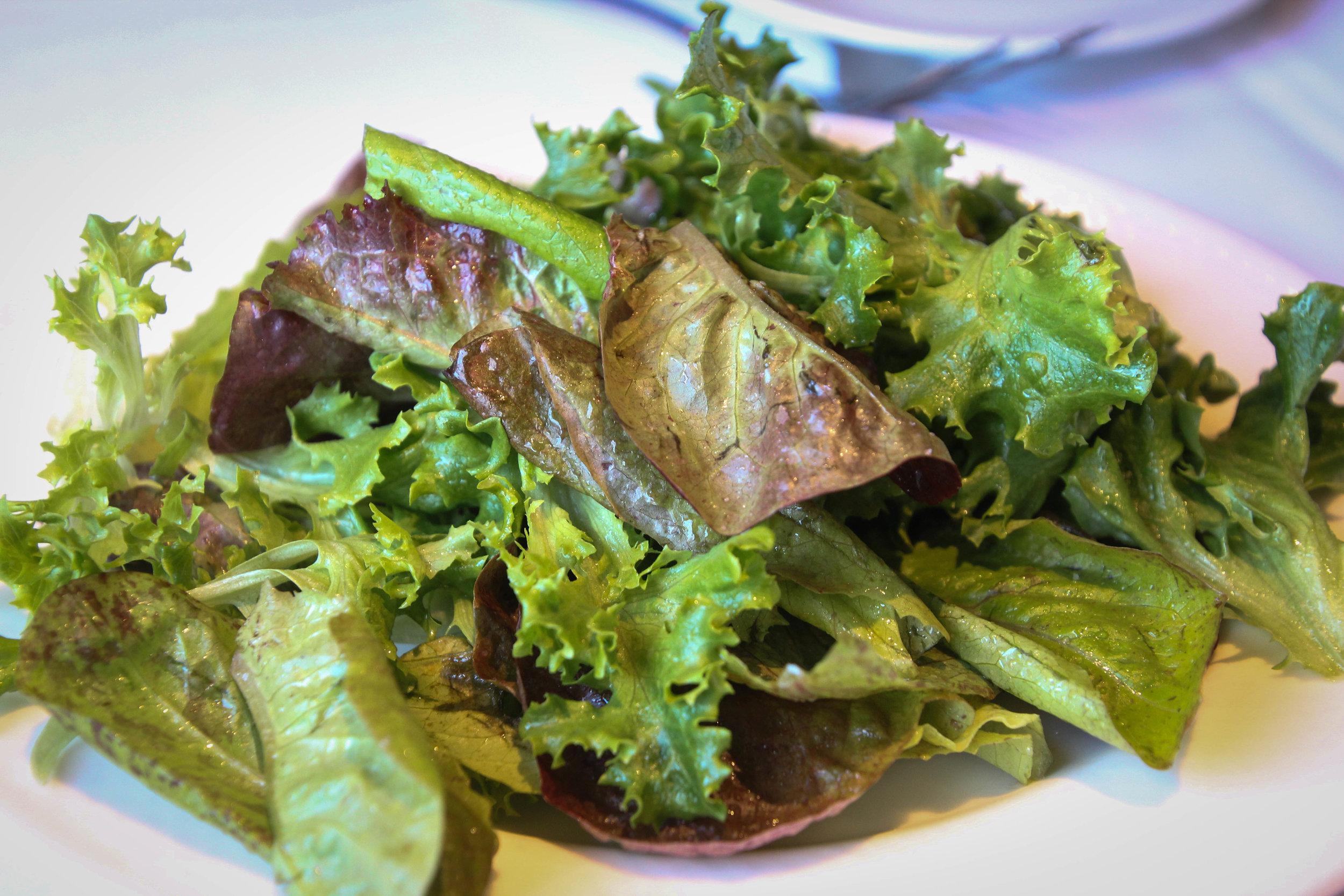 Garden lettuces with vinaigrette