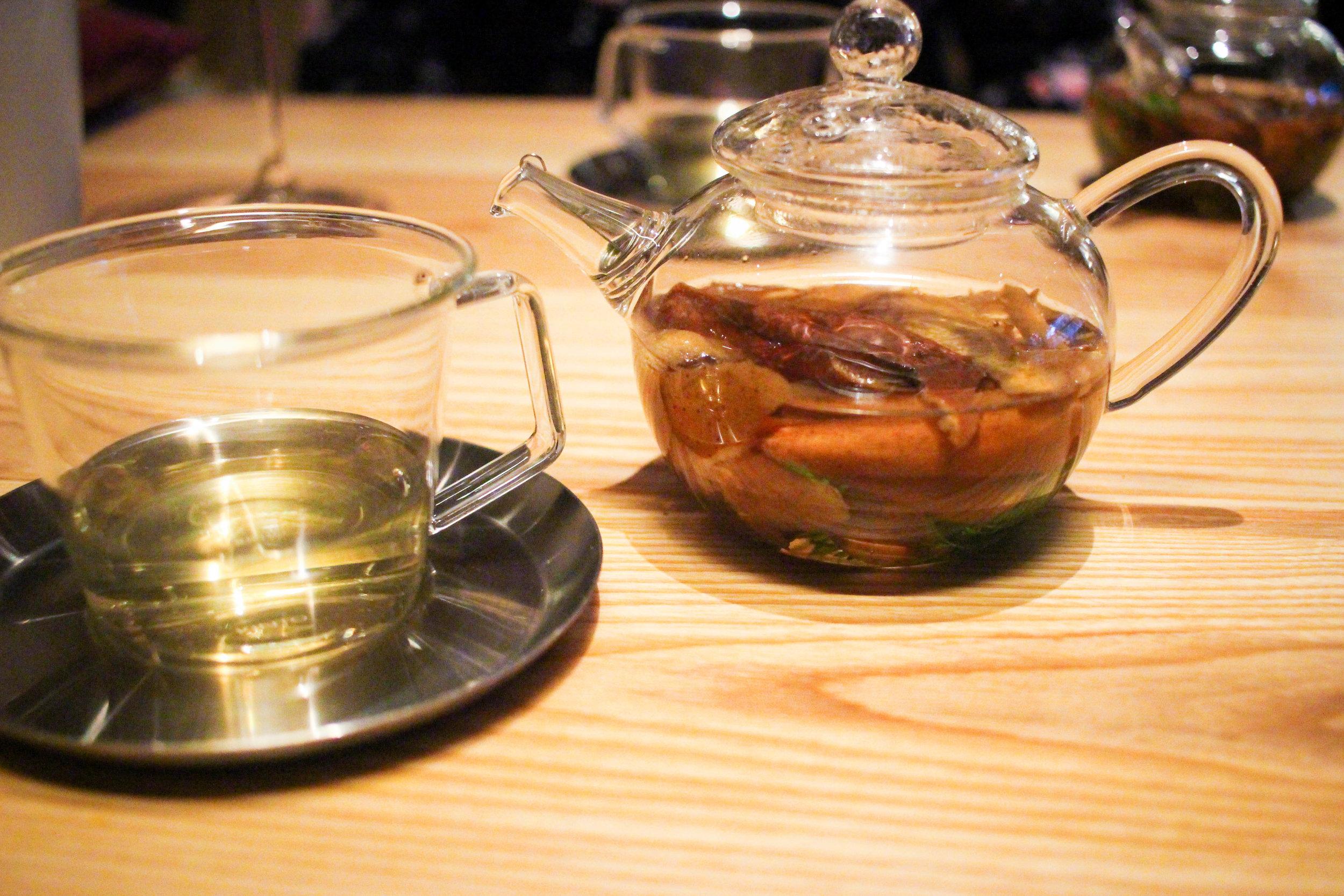 Tea of marigold and apple peels
