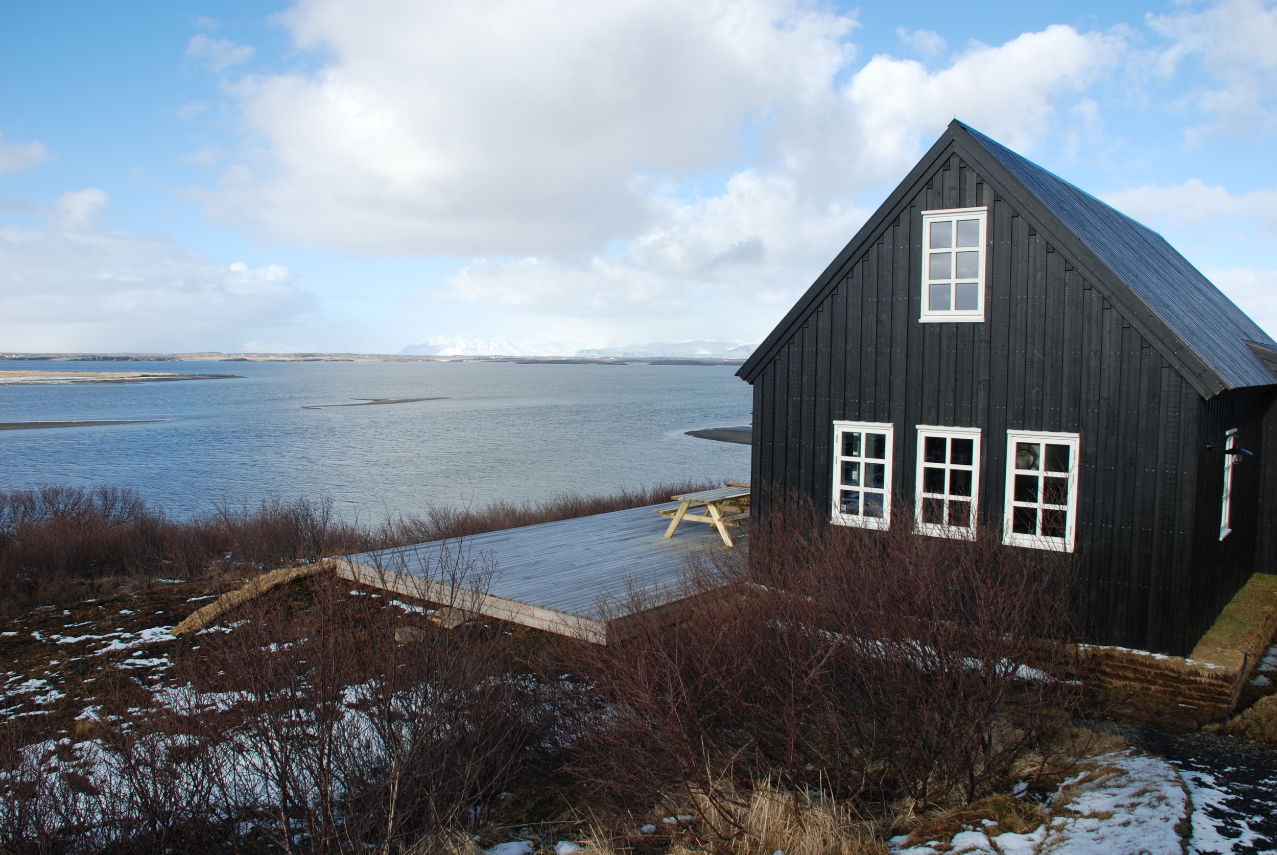 After spending the first night in Reykjavik, we drove a few hours to our little Black House where we would stay for the next five nights. The dark cabin sits between the Atlantic Ocean and a once-fiery-now-dormant volcano covered in snow.