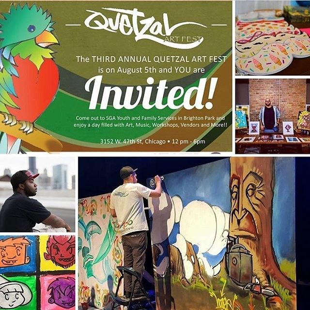 Painting live this weekend and selling original artwork as part of Quetzal Art Festival brought to you by the @expocollective. Come through! It's going to be an amazing event!  #qfest17 #EXPOCollective #EXPOartist #xenomartinez #chicago #chicagoart #chicagoartist