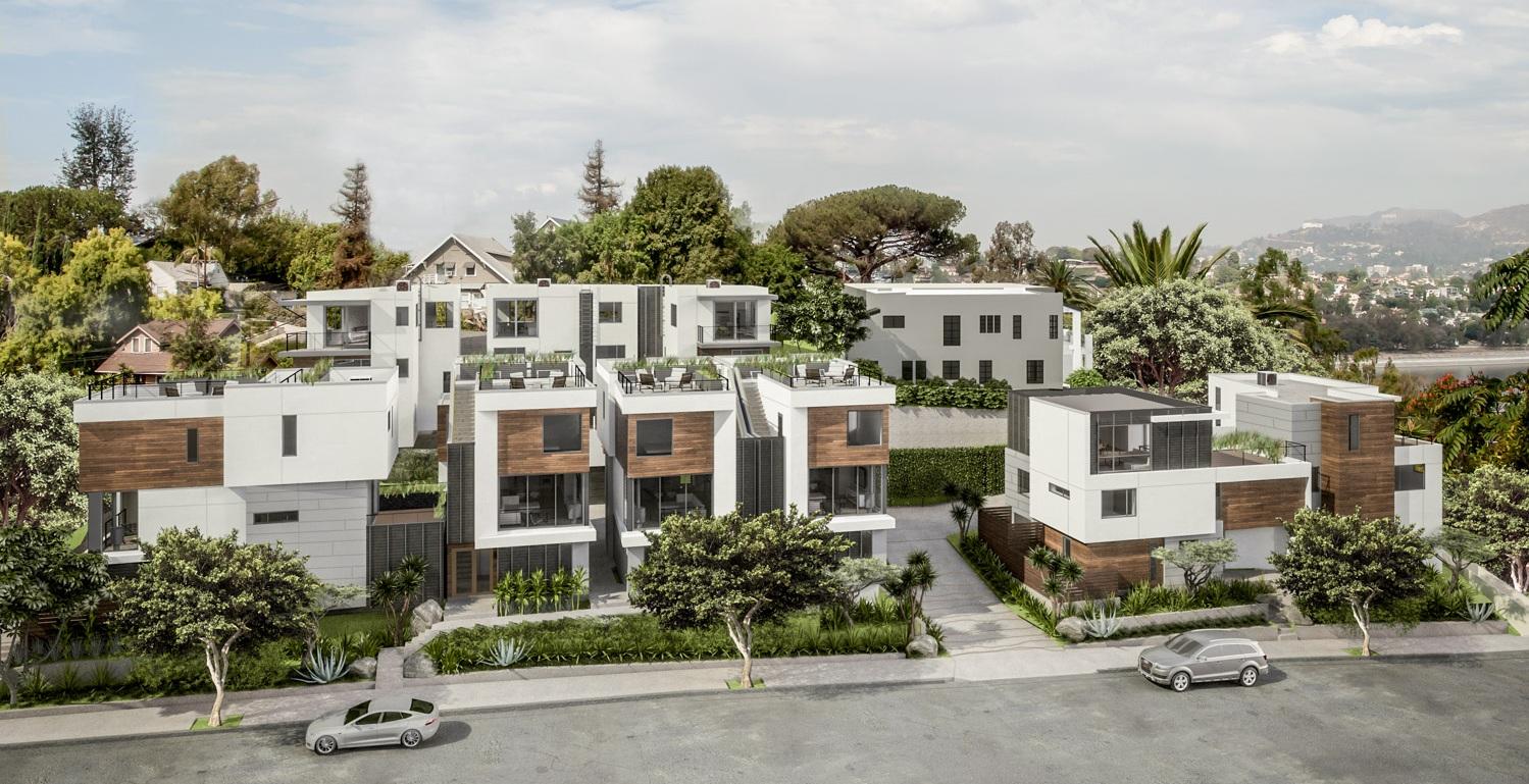 SL.09 Small Lot Subdivision in the Los Angeles by Hunter Leggitt Studio. Silverlake Real Estate Development.