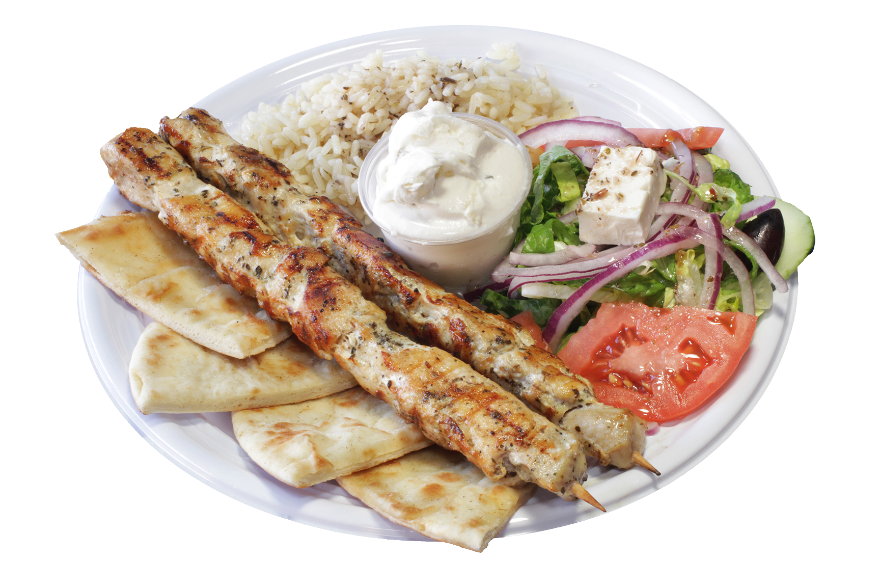 Chicken Souvlaki Plate