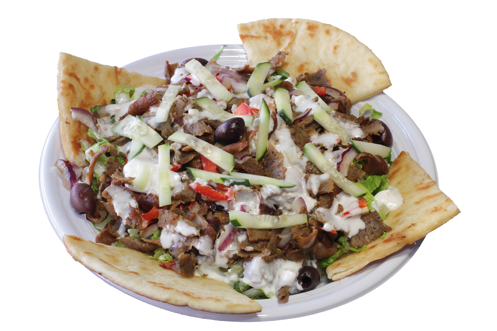 Greek Isle Salad w/ Gyros