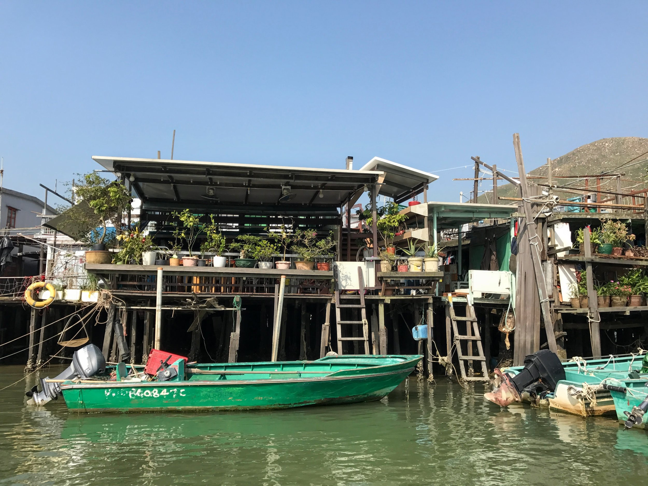 Taking a break from the city at Tai O fishing village // Hong Kong