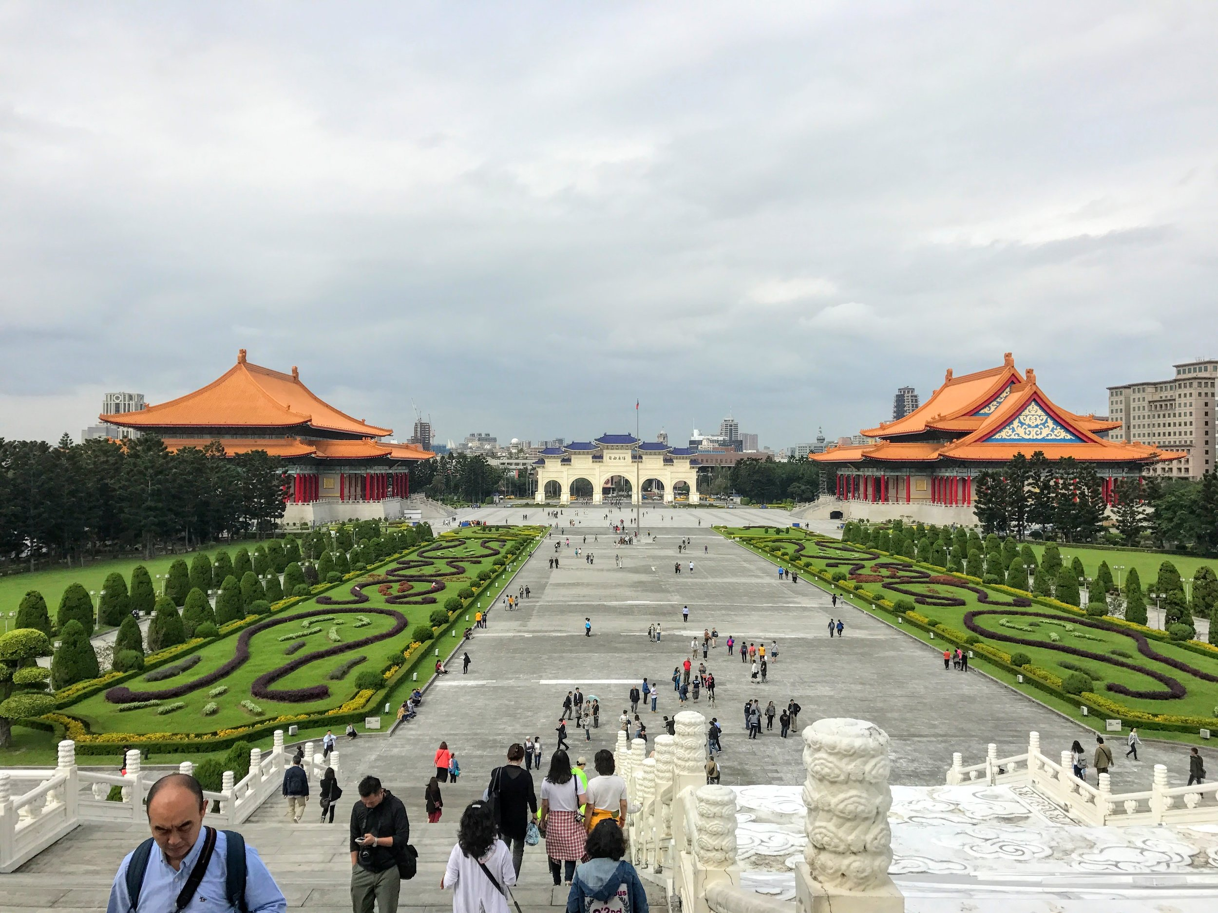 The view from the Chiang Kai-Shek Memorial hall // Taipei