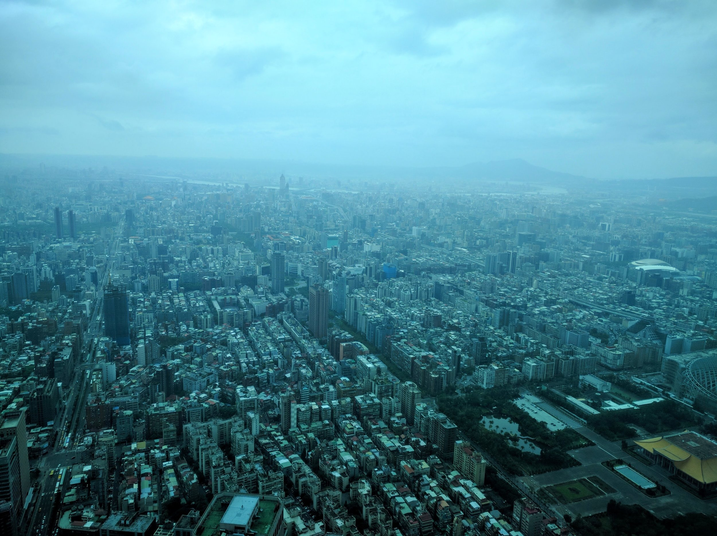 The view from Taipei 101 on a foggy day // Taipei