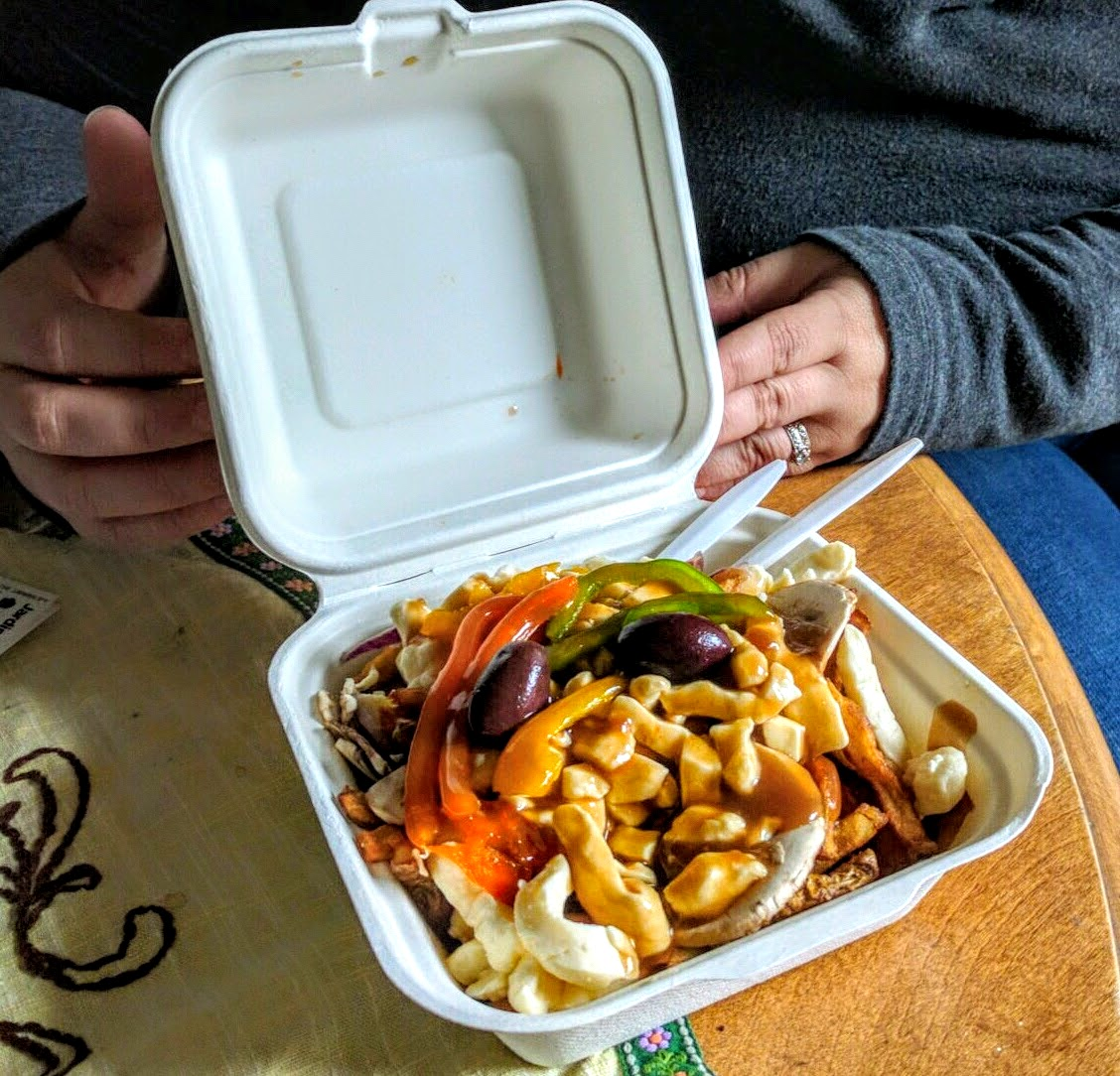 No trip to Montreal would be complete without some yummy poutine :)