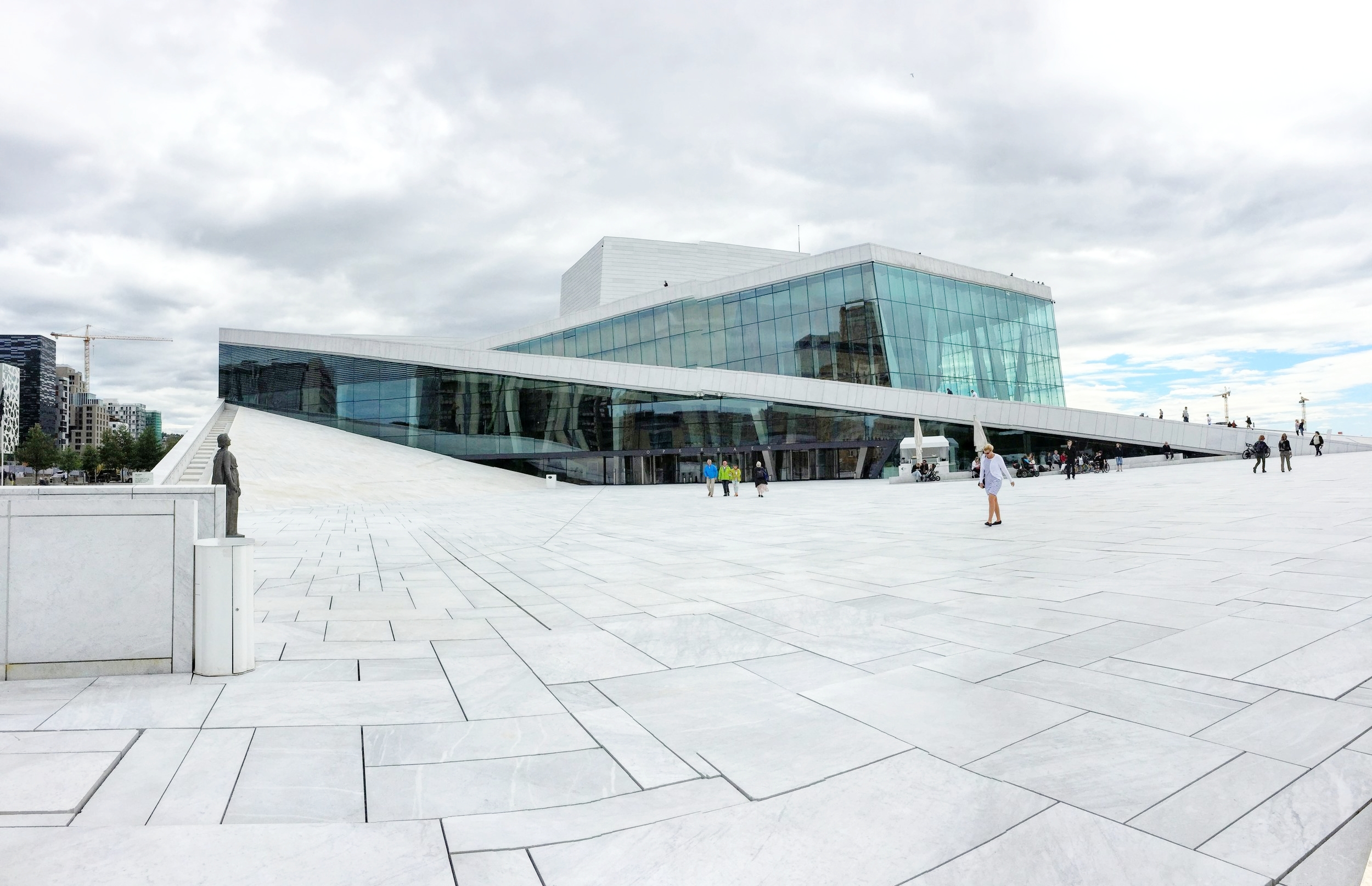You can actually walk up the side of the Opera house!// Oslo, Norway