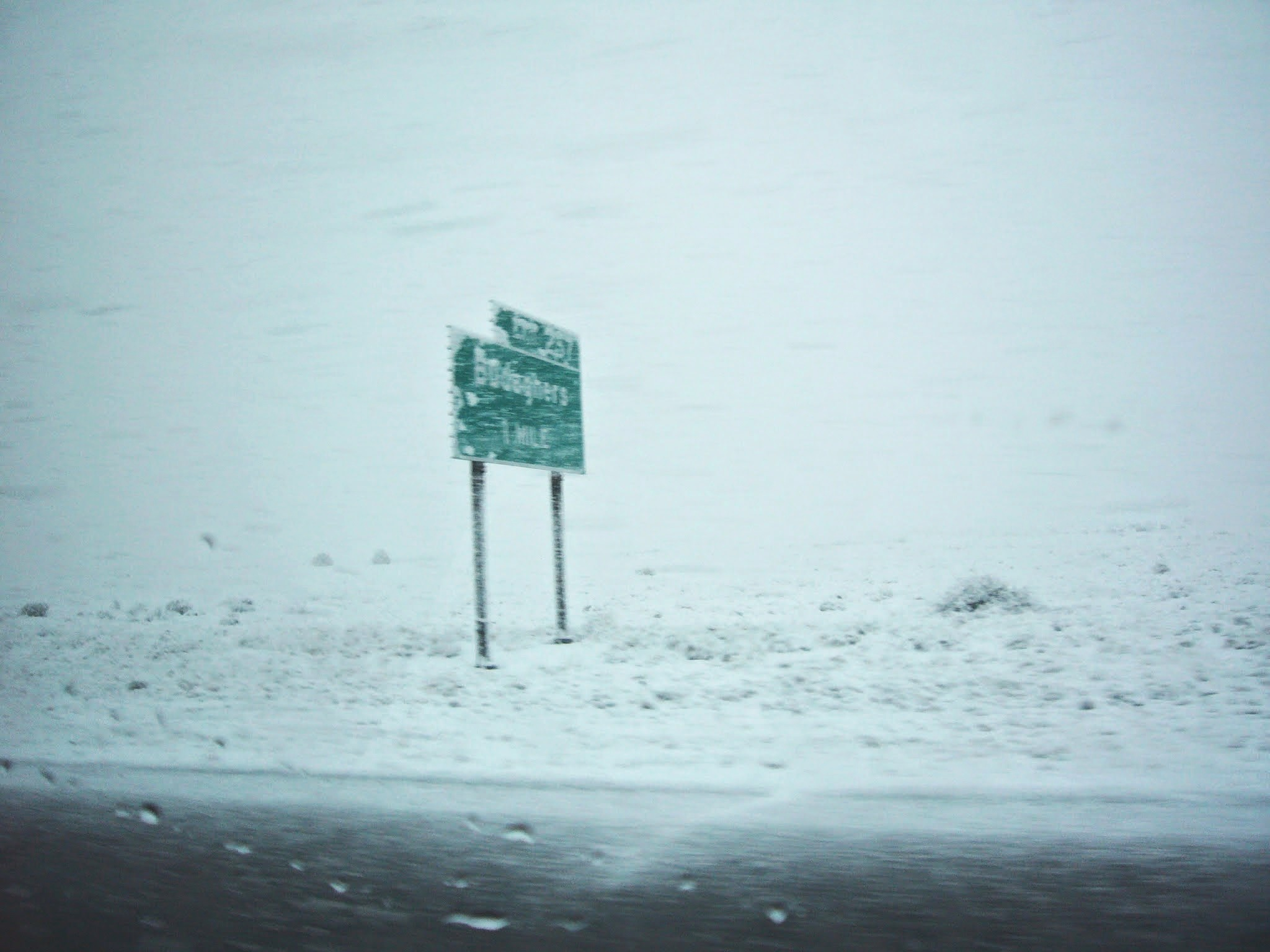 Surprise blizzard near Santa Fe in March!