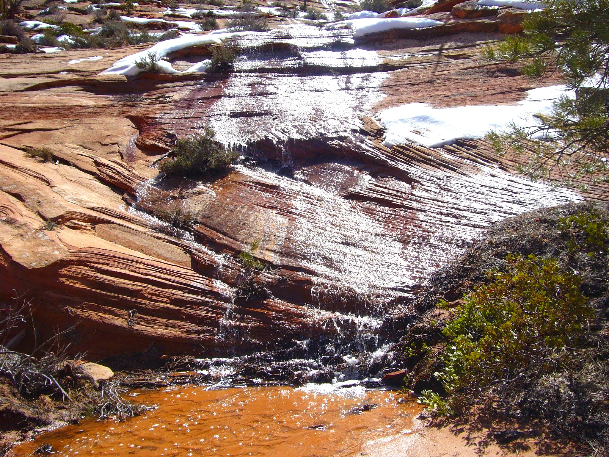 Zion National Park - still snow on the ground