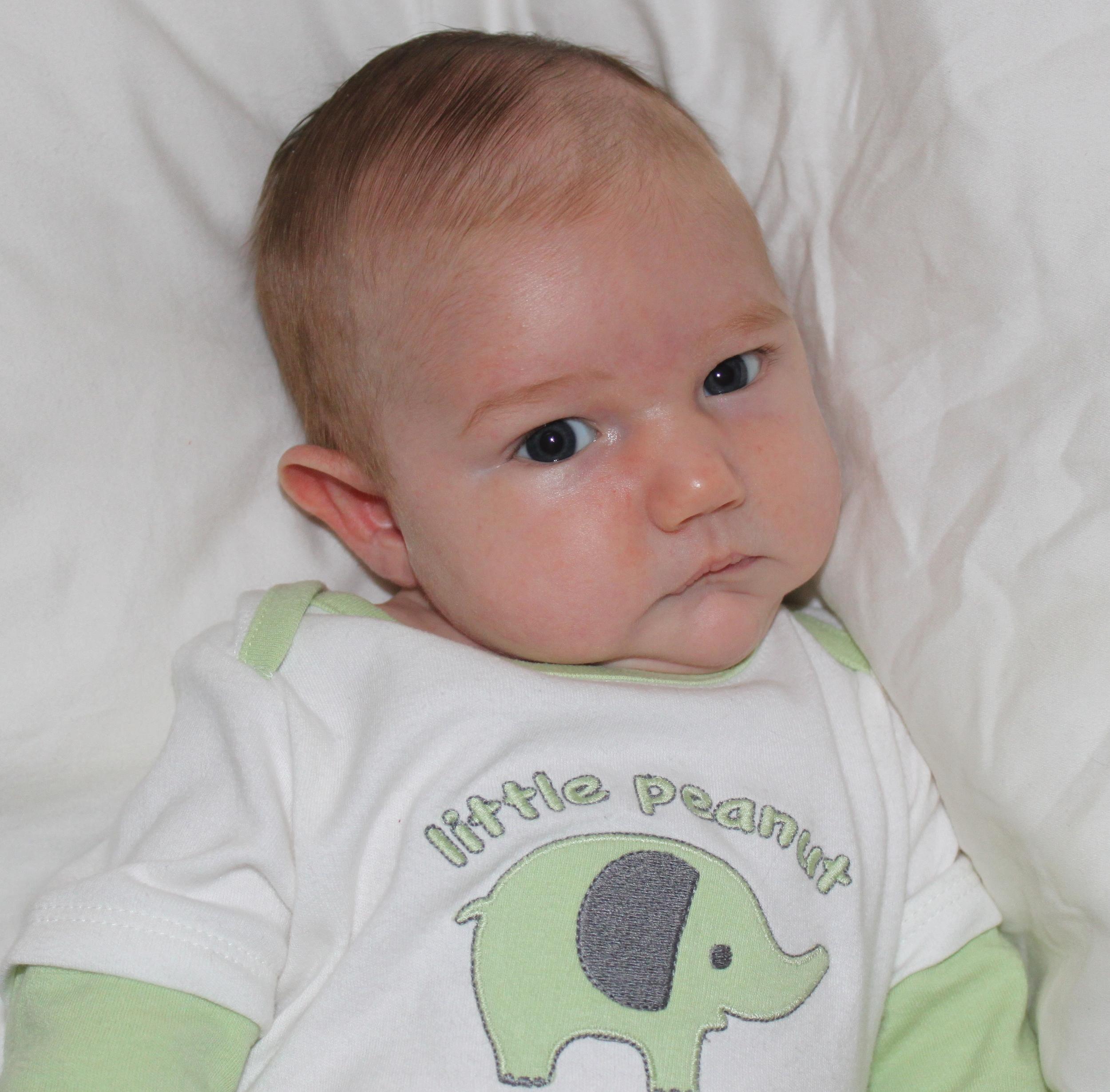 Gloria and Josh's son, William, at five weeks