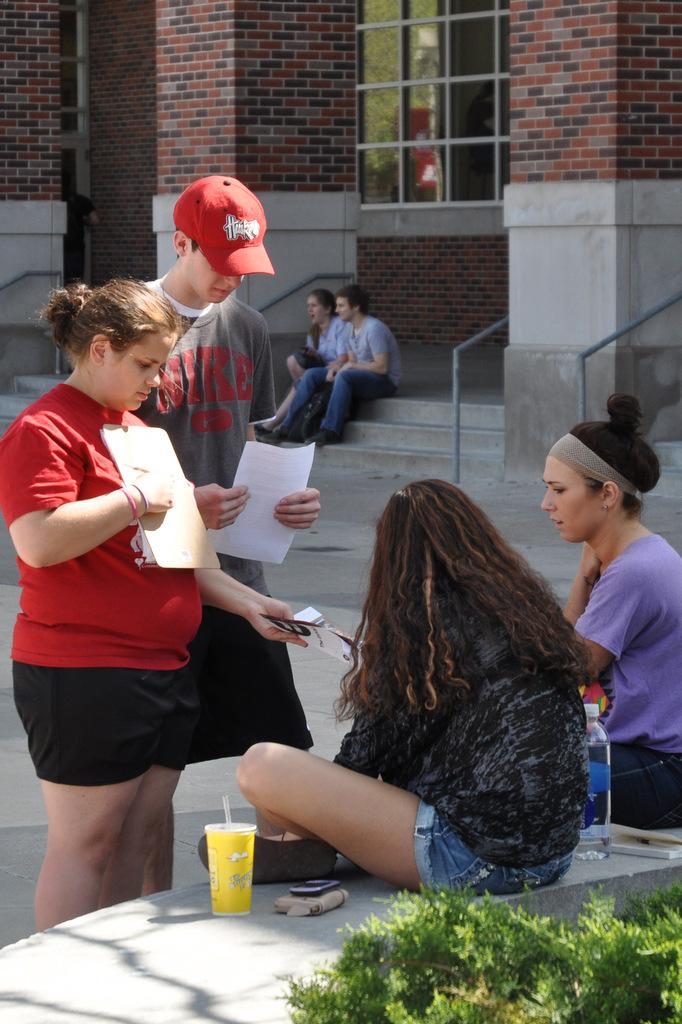 Feet Work: Connie at a University of Nebraska outreach