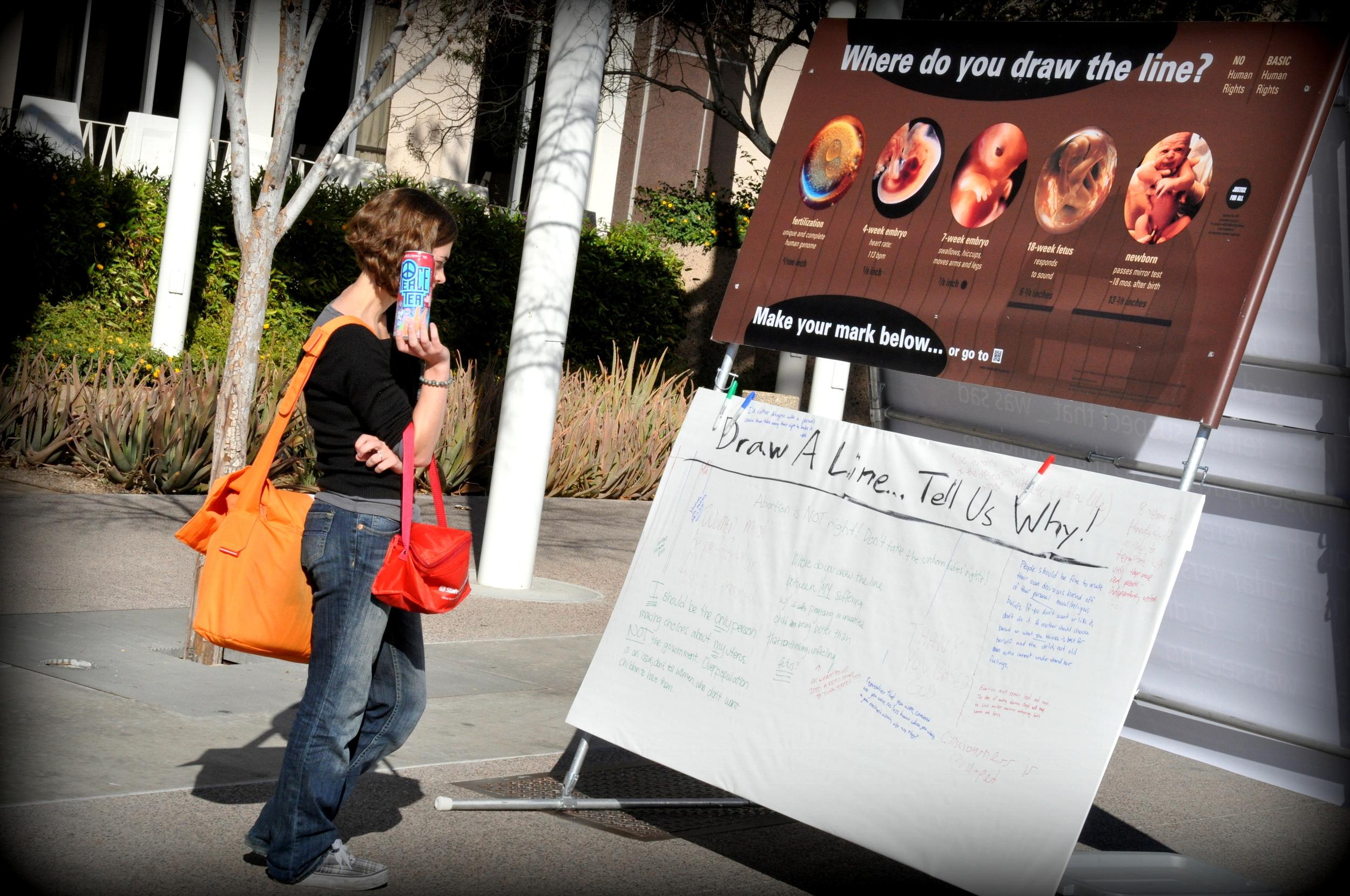 """Where Do You Draw the Line?"" at Arizona State University, February 2013"