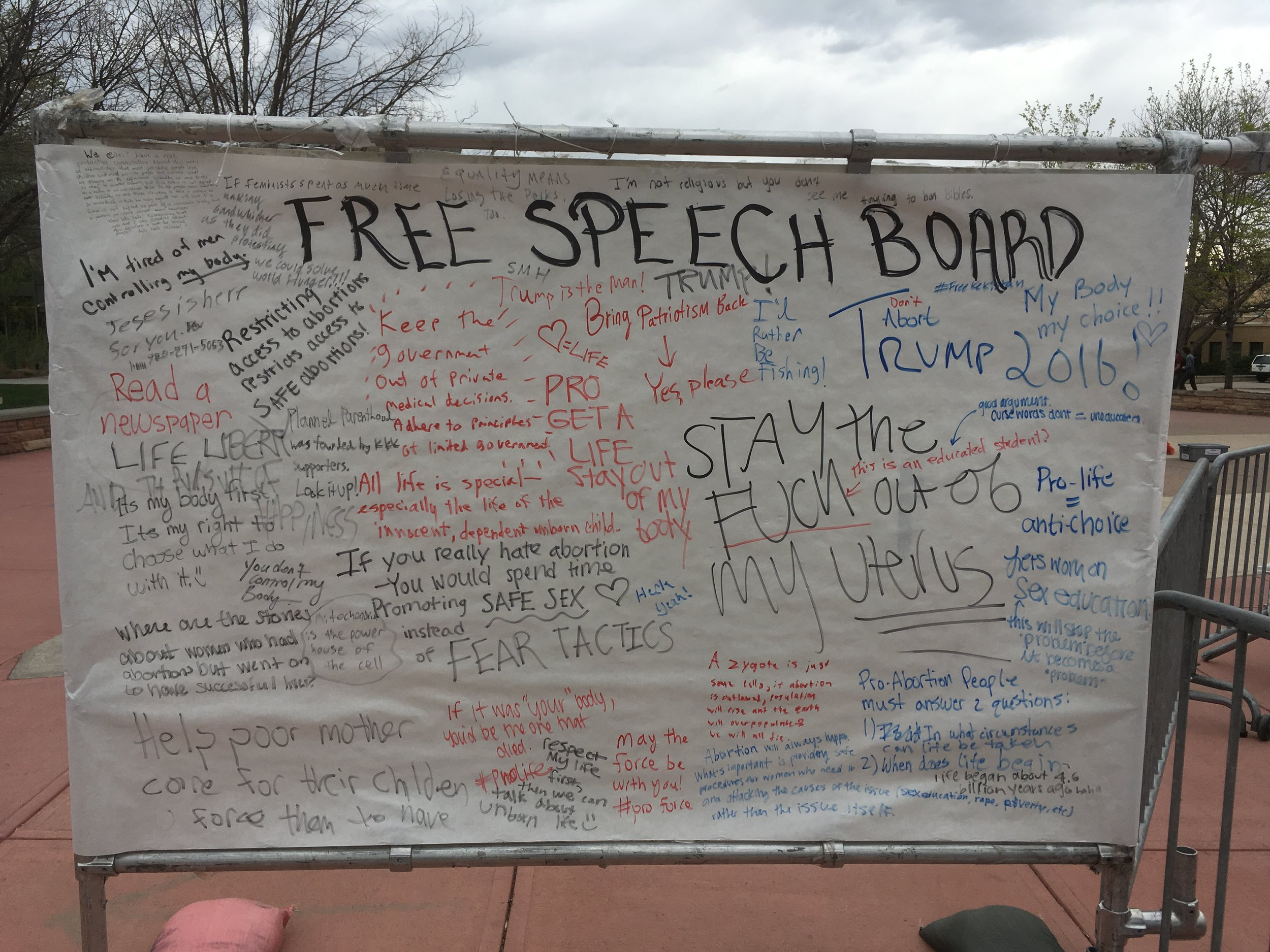 See the Featured Conversation Starter for this month (a small comment hidden in this free speech board) by clicking on the image above or the links below.
