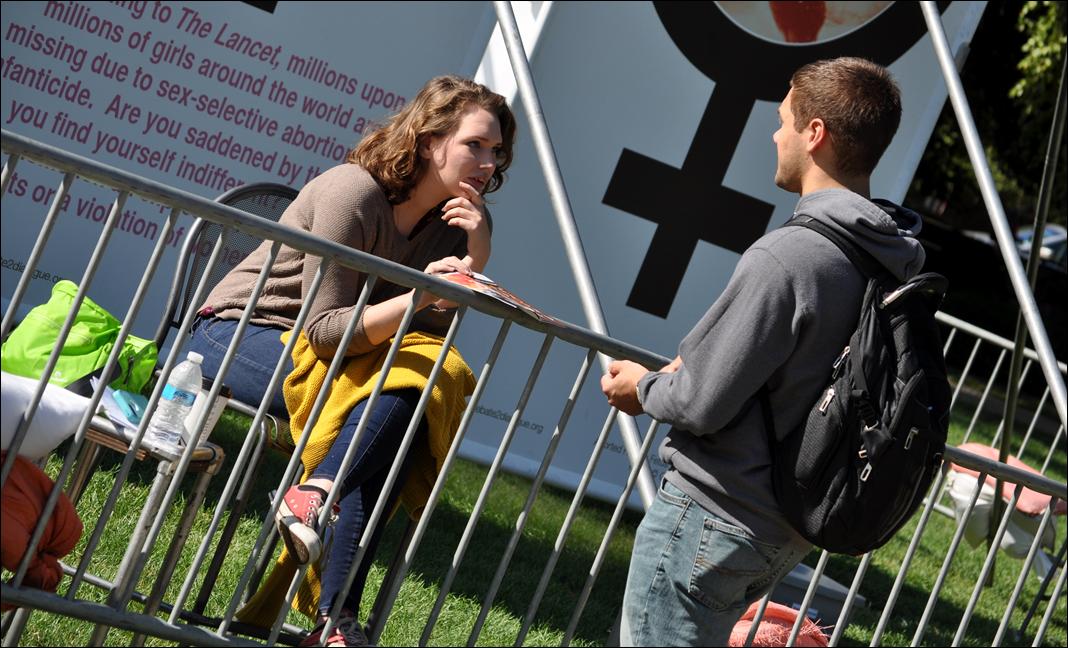 JFA Intern  Grace Fontenot  (left) at Purdue University in September
