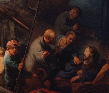 Detail from  Christ in the Storm on the Sea of Galilee , Rembrandt van Rijn, 1633 (see image above)