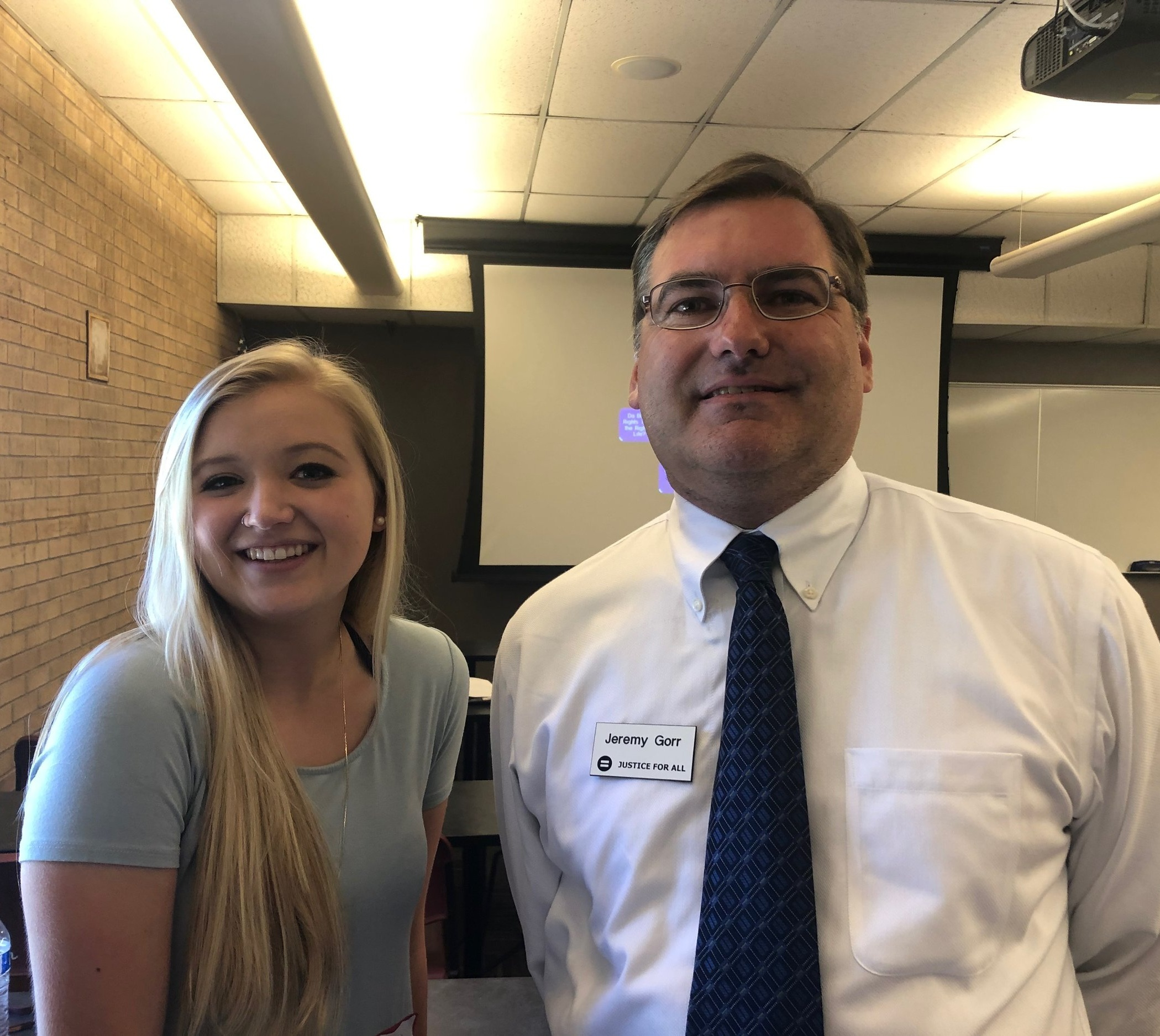 Rylei shared her thoughts about JFA recently when she came to a seminar I taught at her campus, Arizona State University.
