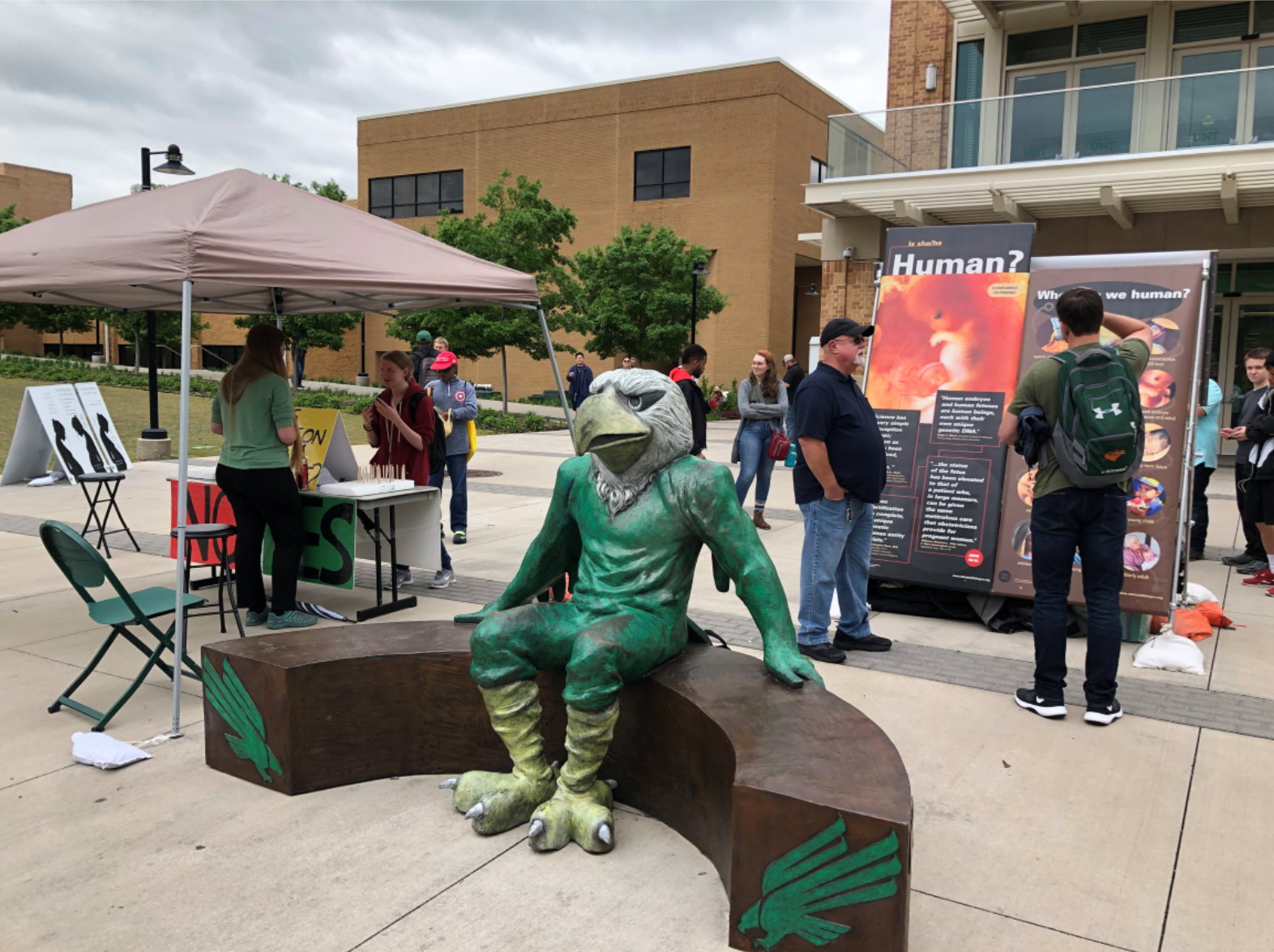 Our staff and volunteers had lots of great conversations at the University of North Texas this spring.