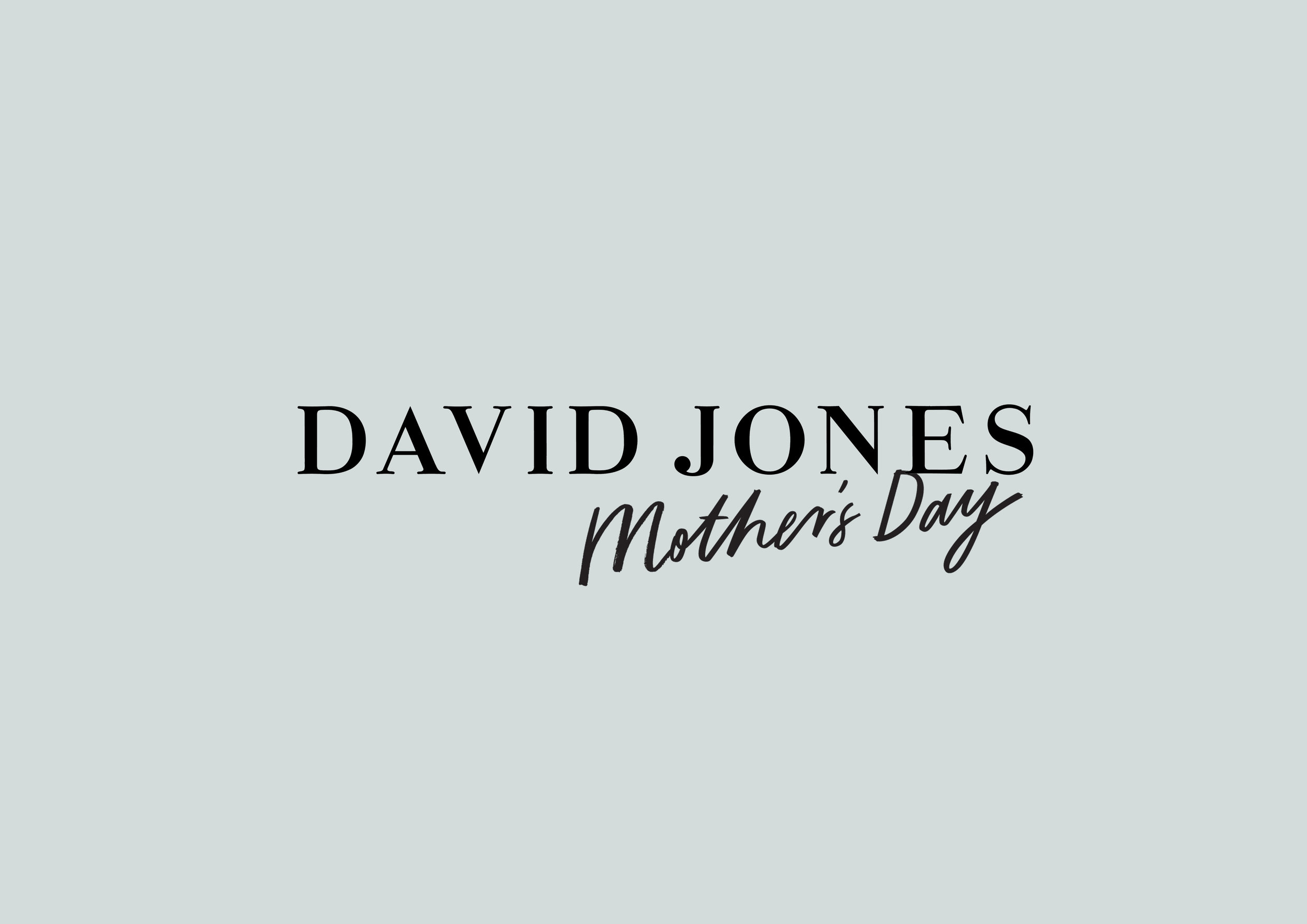 David Jones Mother's Day Lettering (2016)