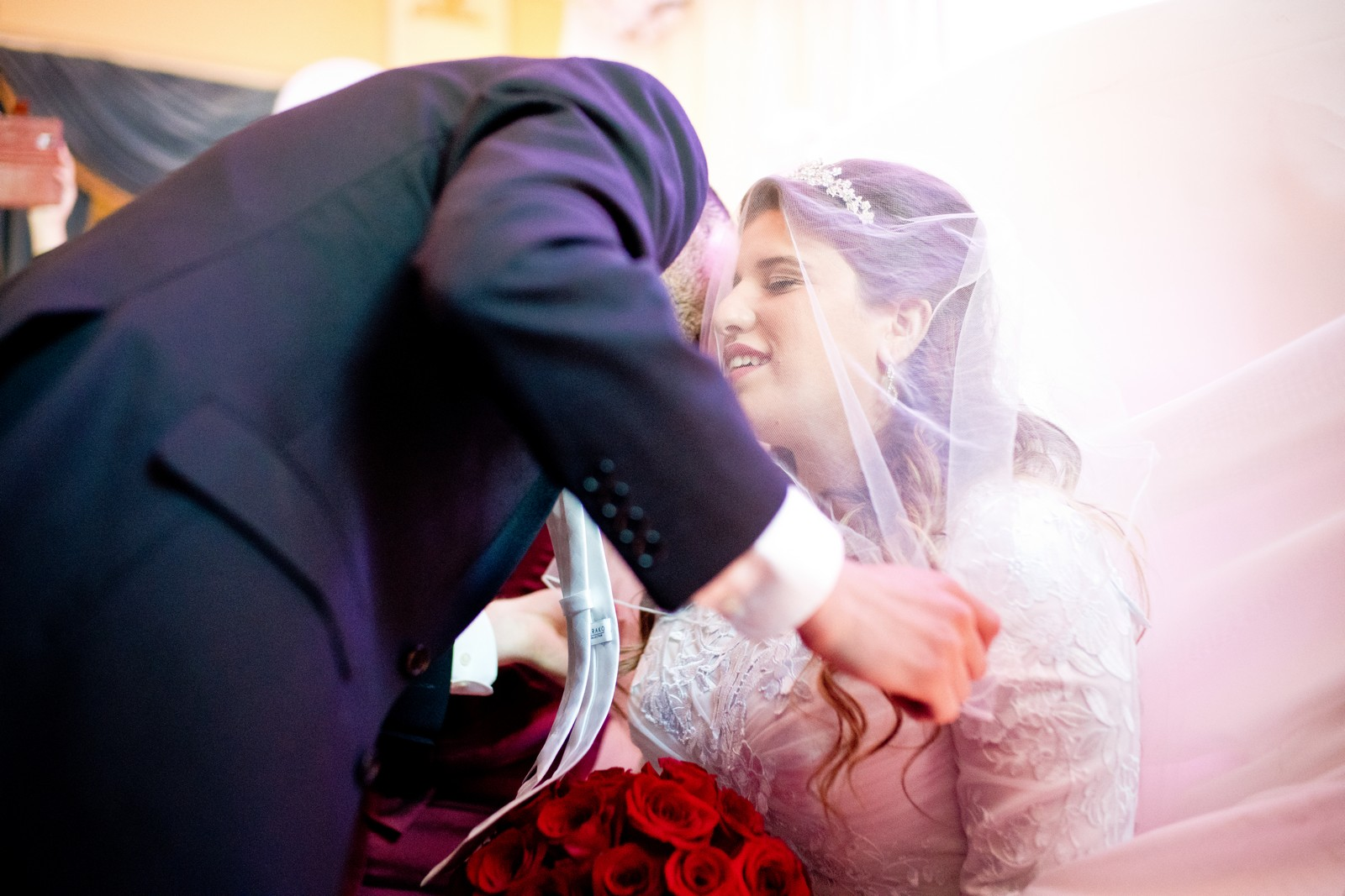 Orthodox Jewish Wedding, Dyker Beach Park and Golf Course, Brooklyn, New York, Photo by Chaim Schvarcz, Badeken, Bdeken, Bride, Groom