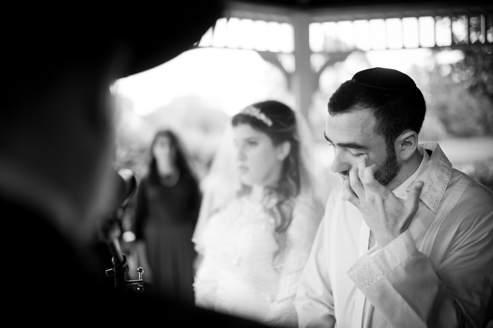 Orthodox Jewish Wedding, Dyker Beach Park and Golf Course, Brooklyn, New York, Photo by Chaim Schvarcz, Bride, Groom, Chuppah