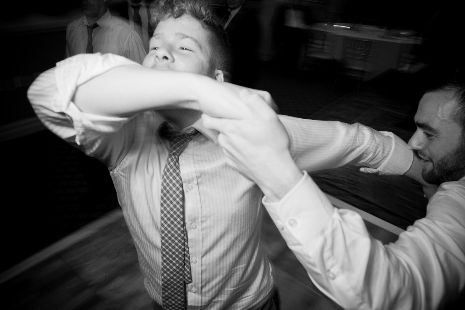 Orthodox Jewish Wedding, Dyker Beach Park and Golf Course, Brooklyn, New York, Photo by Chaim Schvarcz, Dancing, Groom