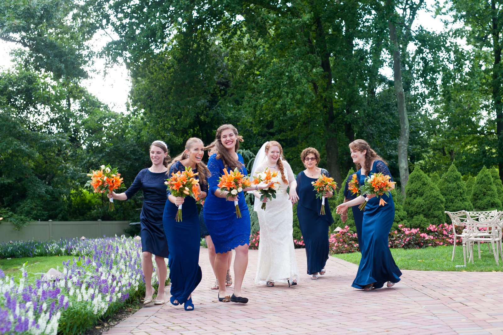 Sam and Yishai's Modern Orthodox Jewish Wedding at Crest Hollow Country Club, Woodbury NY, Photos by Chaim Schvarcz, Bridal Party, Bridesmaids