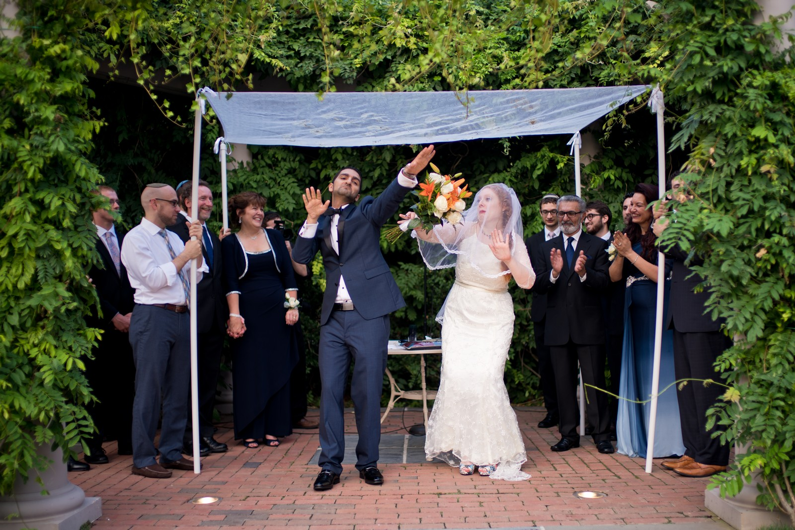 Sam and Yishai's Modern Orthodox Jewish Wedding at Crest Hollow Country Club, Woodbury NY, Photos by Chaim Schvarcz, Bride, Groom, Chuppah, Dancing