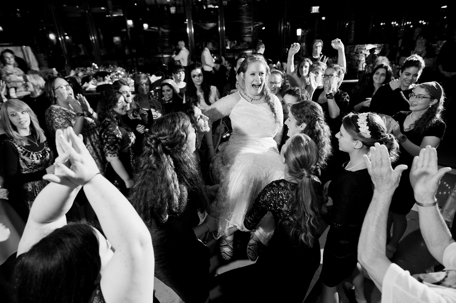 Sam and Yishai's Modern Orthodox Jewish Wedding at Crest Hollow Country Club, Woodbury NY, Photos by Chaim Schvarcz, Bride, Dancing