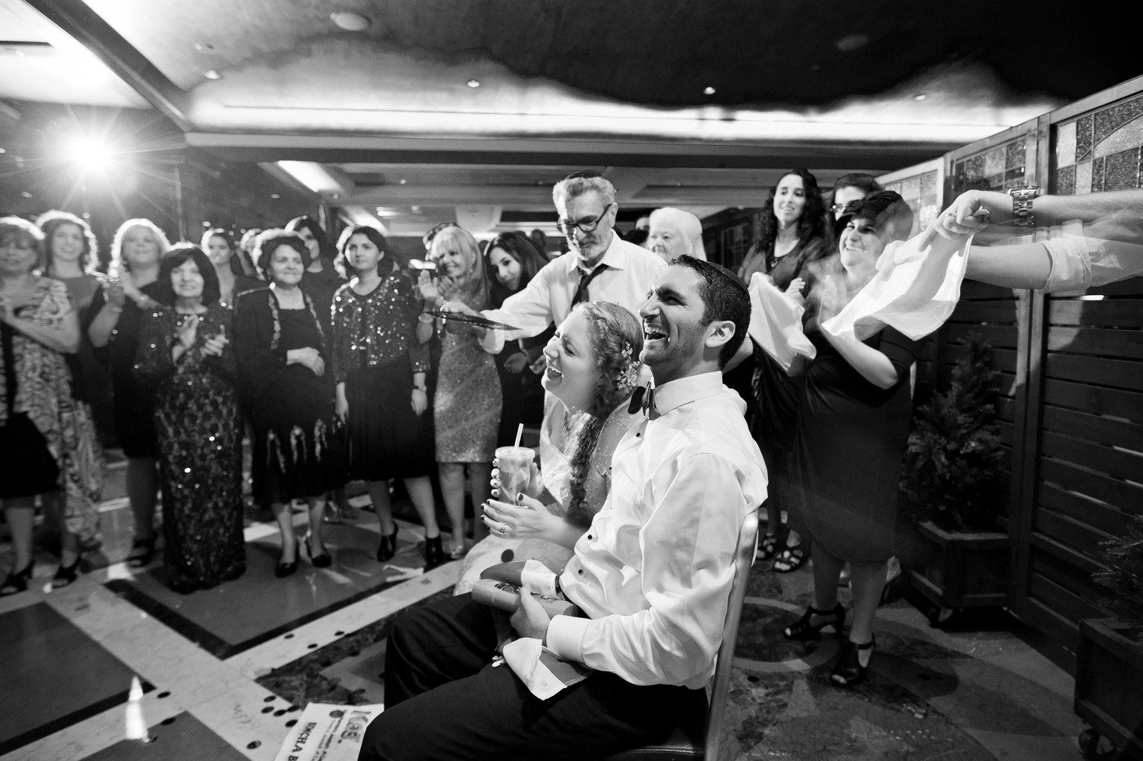 Sam and Yishai's Modern Orthodox Jewish Wedding at Crest Hollow Country Club, Woodbury NY, Photos by Chaim Schvarcz, Bride, Groom, Dancing