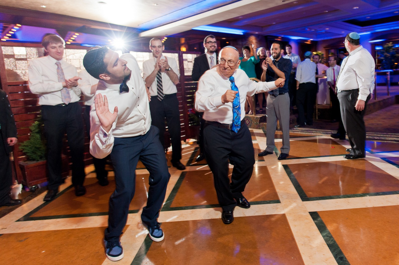 Sam and Yishai's Modern Orthodox Jewish Wedding at Crest Hollow Country Club, Woodbury NY, Photos by Chaim Schvarcz, Groom Dancing