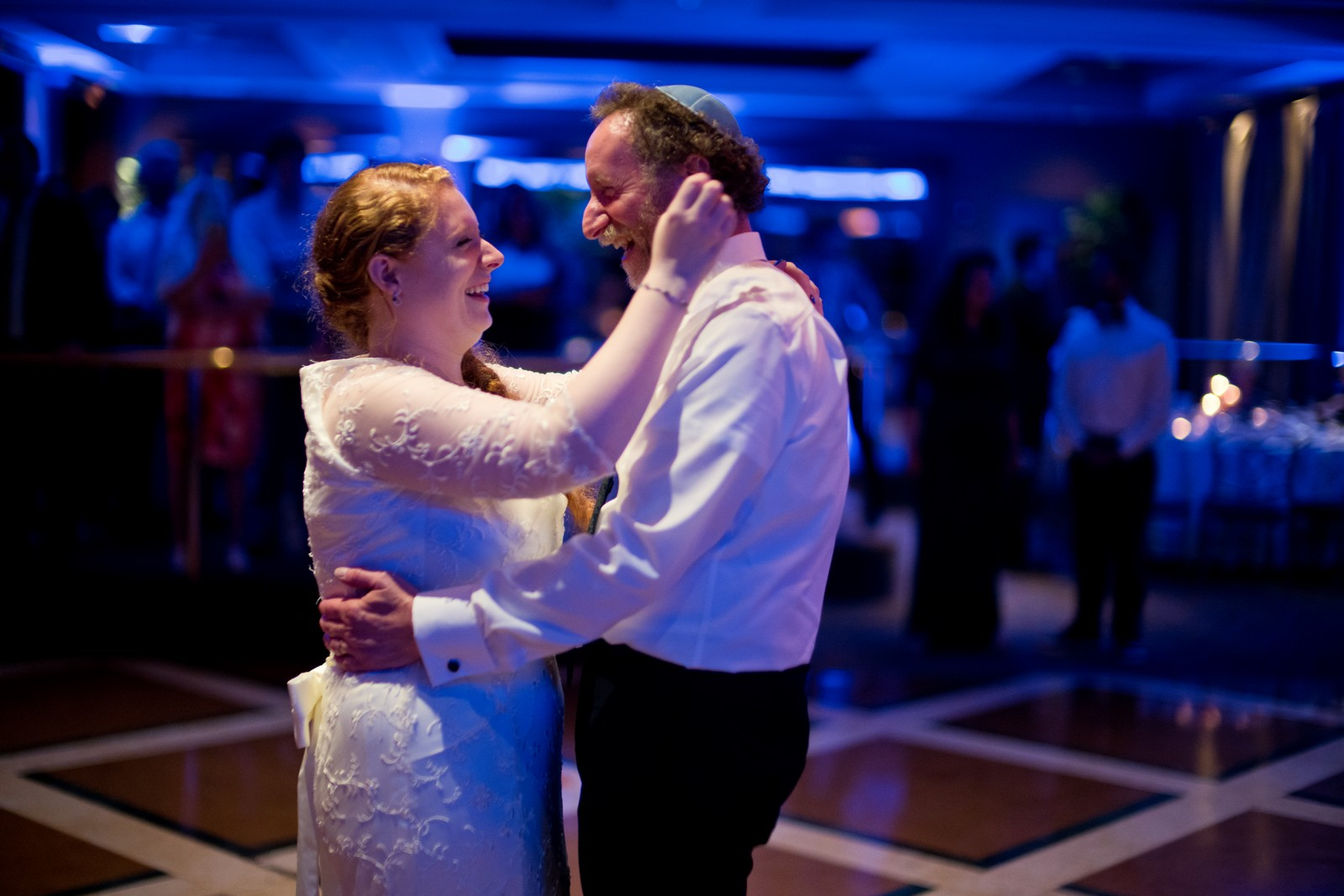 Sam and Yishai's Modern Orthodox Jewish Wedding at Crest Hollow Country Club, Woodbury NY, Photos by Chaim Schvarcz, Bride, Father of the Bride, Father Daughter Dance