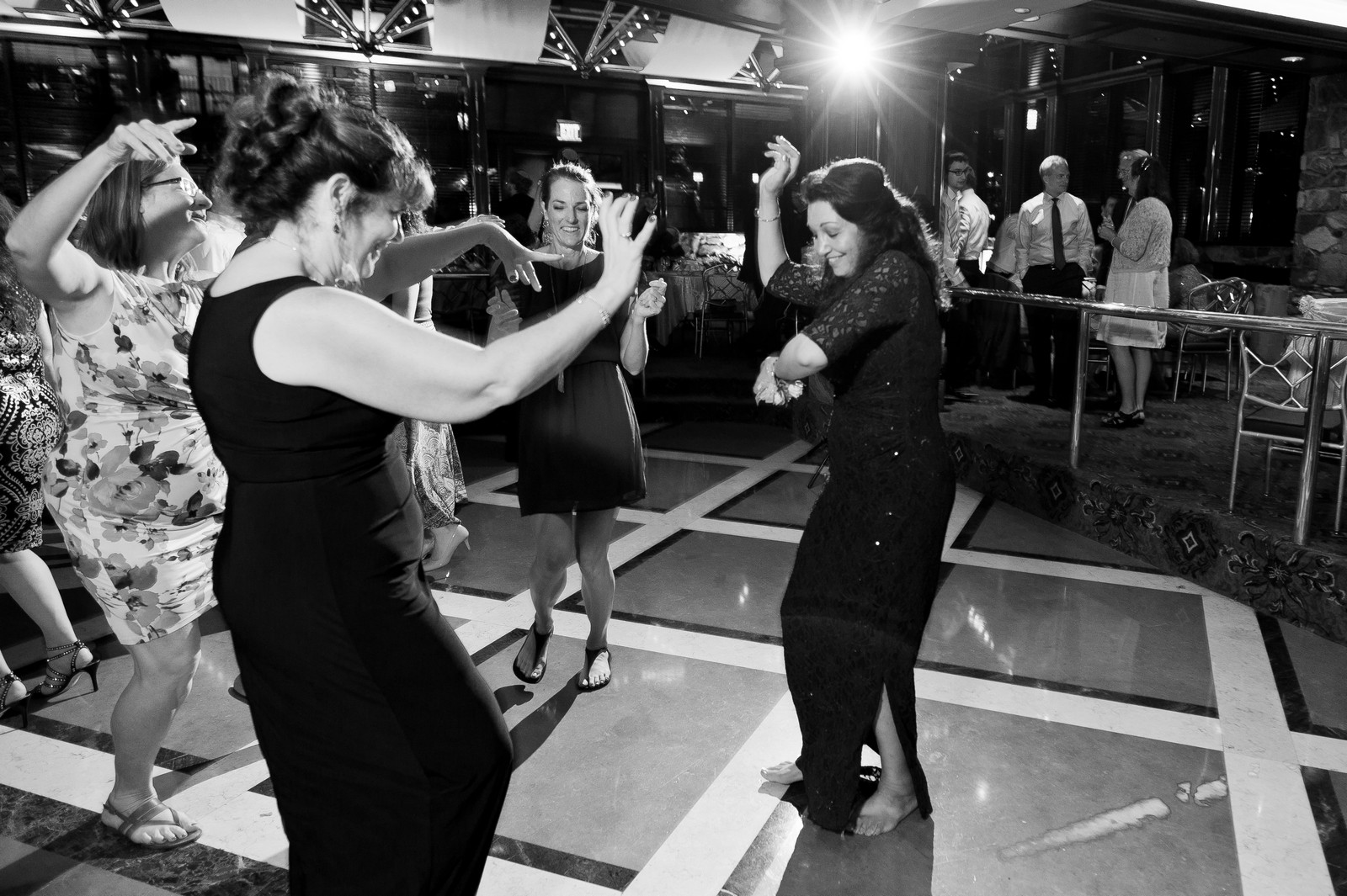 Sam and Yishai's Modern Orthodox Jewish Wedding at Crest Hollow Country Club, Woodbury NY, Photos by Chaim Schvarcz, Mother of the Bride, Mother of the Groom, Dancing