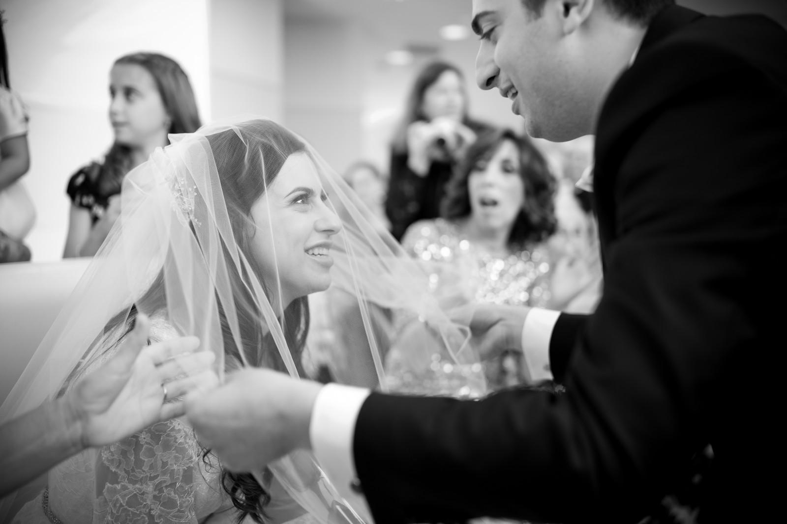 Josh and Michelle's Modern Jewish Wedding at Congregation Keter Torah, Teaneck, New Jersey Photos by Chaim Schvarcz, Bride, Bedeken, Groom