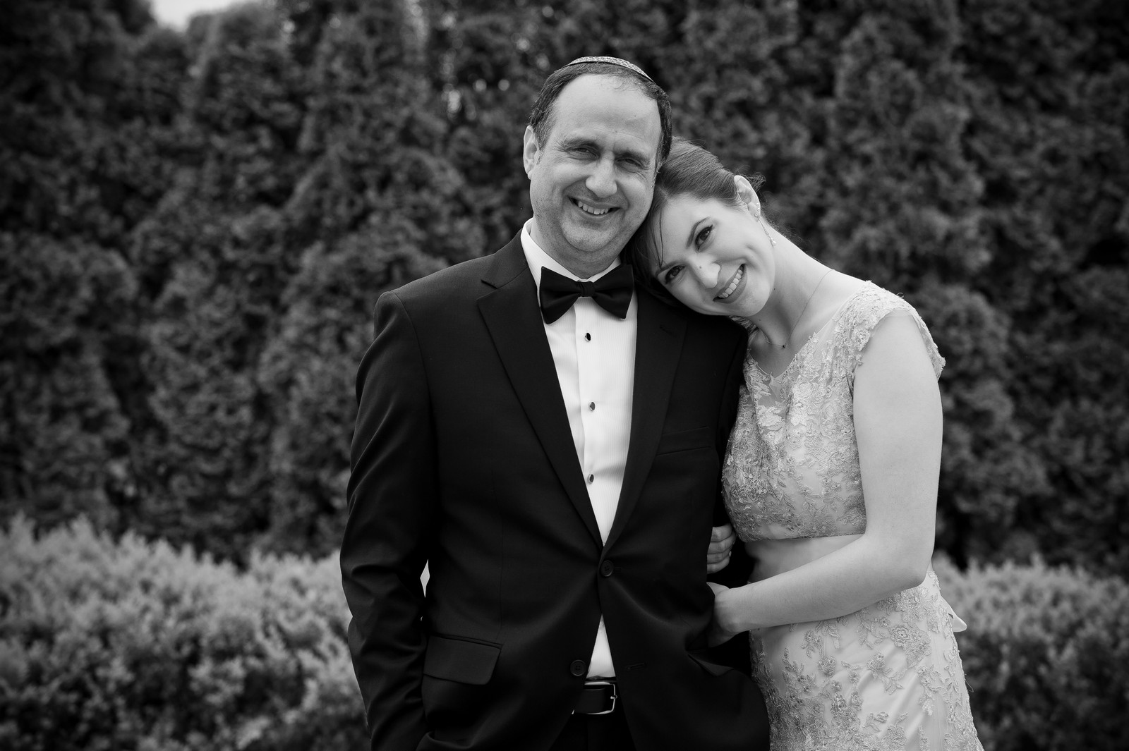 Yoey and Aaron's Memorial Day Modern Jewish Wedding at Anthony's Pier 9, New Windsor, NY Photos by Chaim Schvarcz bride father of the bride portraits