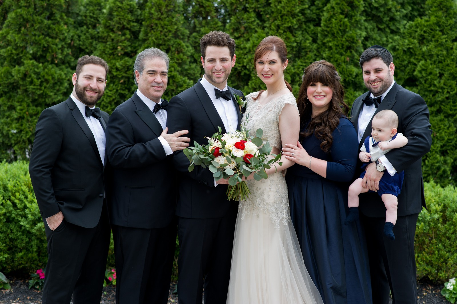 Yoey and Aaron's Memorial Day Modern Jewish Wedding at Anthony's Pier 9, New Windsor, NY Photos by Chaim Schvarcz groom family portraits