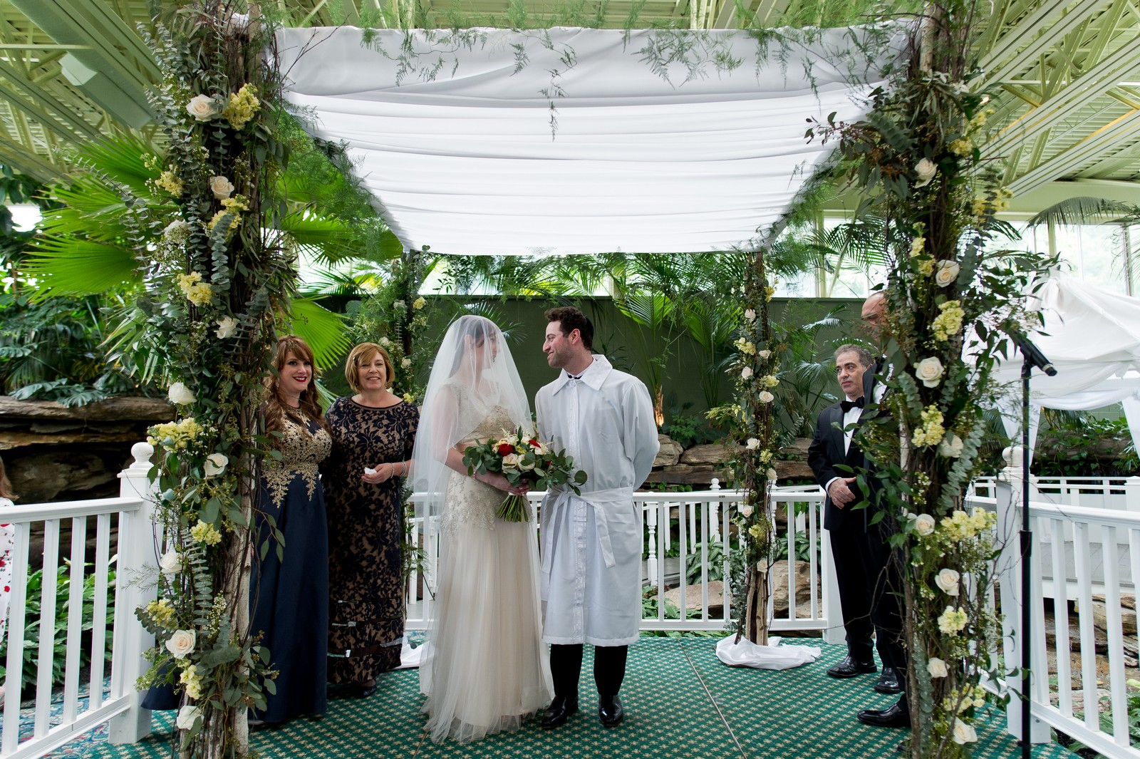 Yoey and Aaron's Memorial Day Modern Jewish Wedding at Anthony's Pier 9, New Windsor, NY Photos by Chaim Schvarcz bride groom chuppah ceremony