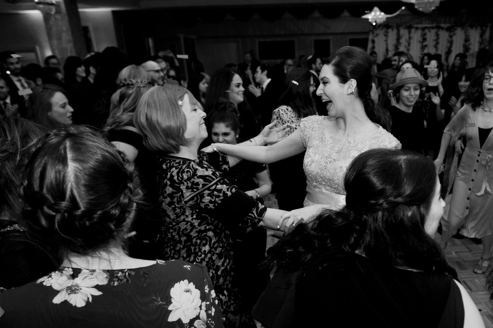 Yoey and Aaron's Memorial Day Modern Jewish Wedding at Anthony's Pier 9, New Windsor, NY Photos by Chaim Schvarcz bride dancing