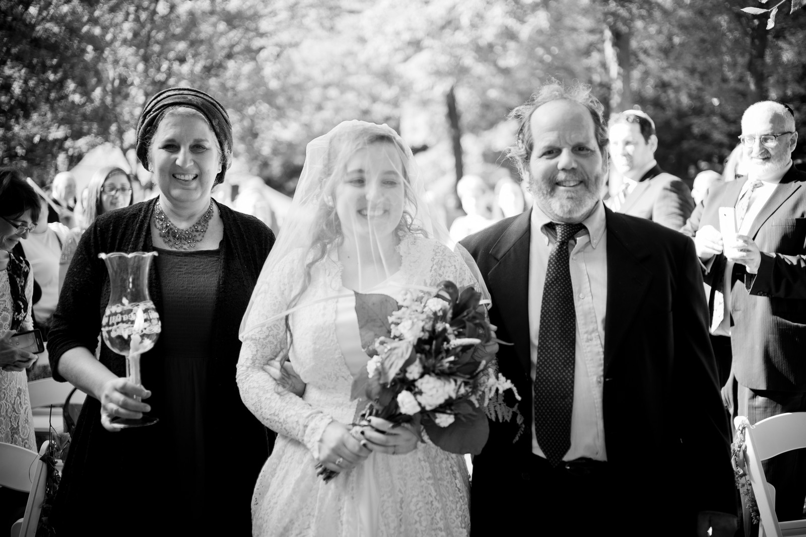Ma'ayan and Mikey's Traditional Jewish Backyard Wedding in Fairfield, CT Photos by Chaim Schvarcz
