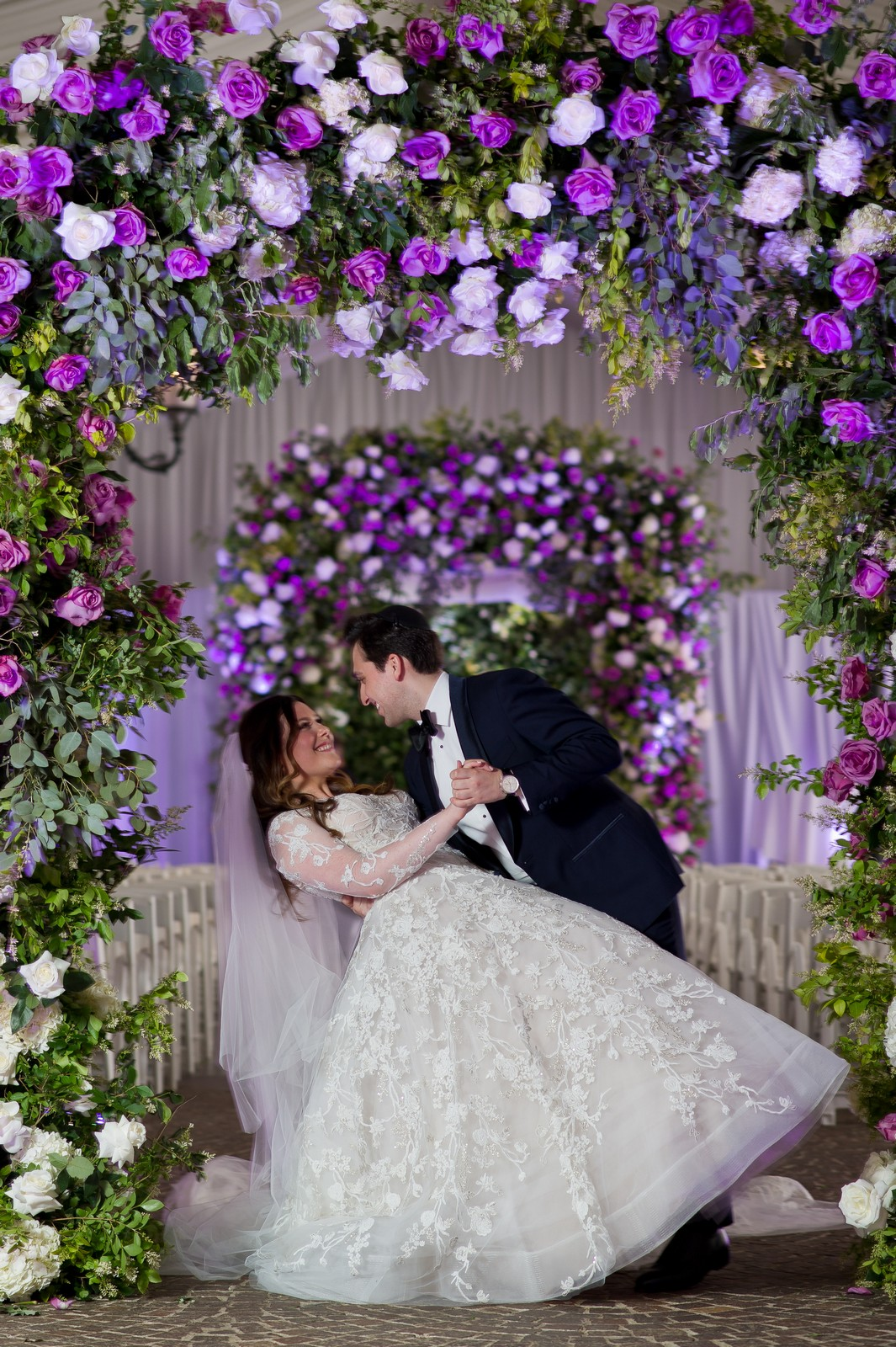 Abby and Miles' Modern Jewish Wedding at Nicotra's Ballroom, Hilton Garden Inn, Staten Island, NY, Photos by Chaim Schvarcz bride groom ceremony