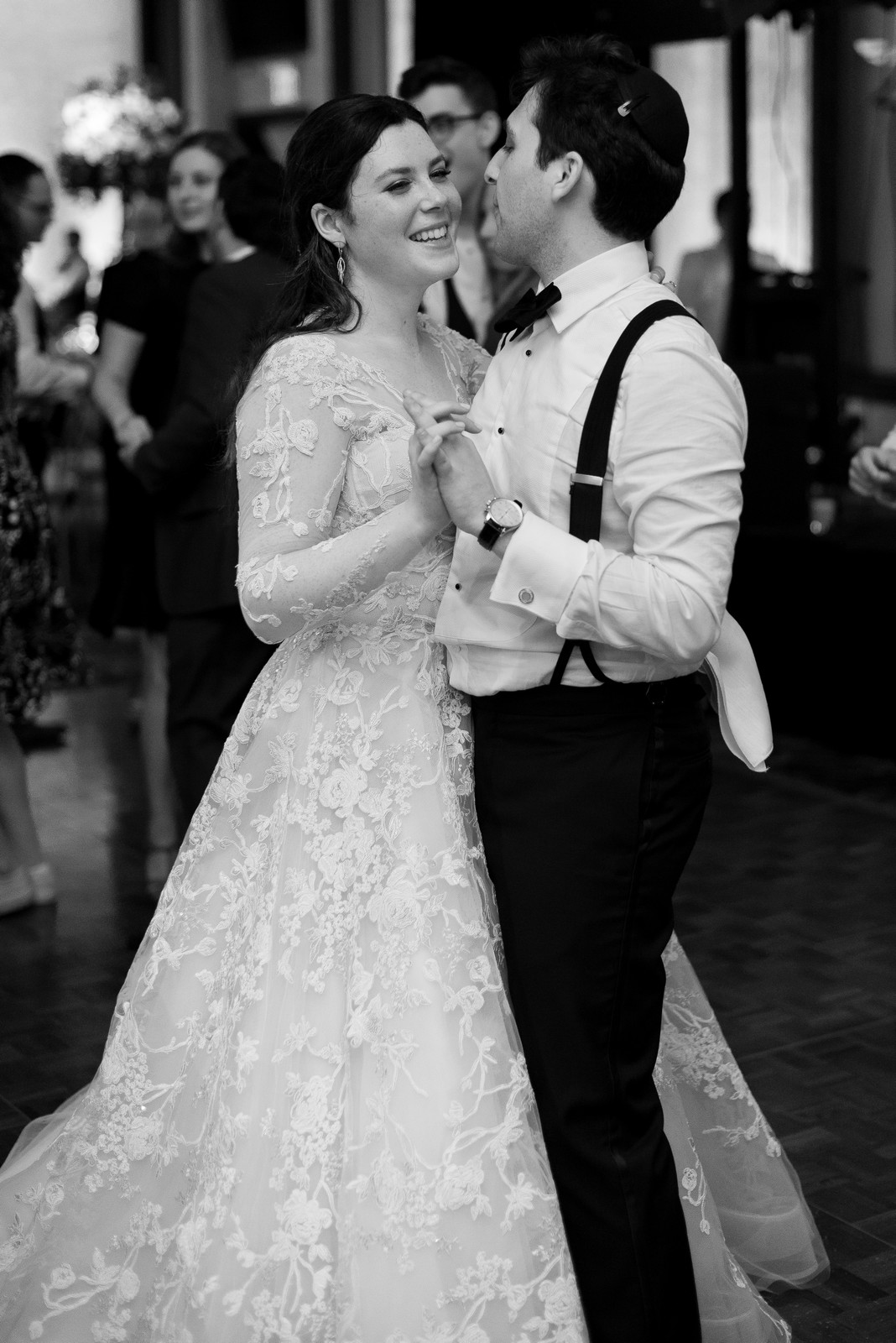 Abby and Miles' Modern Jewish Wedding at Nicotra's Ballroom, Hilton Garden Inn, Staten Island, NY, Photos by Chaim Schvarcz
