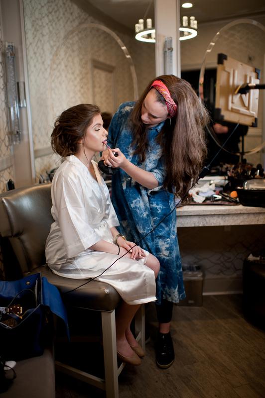 Danna and Eitan's Modern Orthodox Jewish Wedding at The Sands, Atlantic Beach, NY Photos by Chaim Schvarcz bride prep portraits makeup