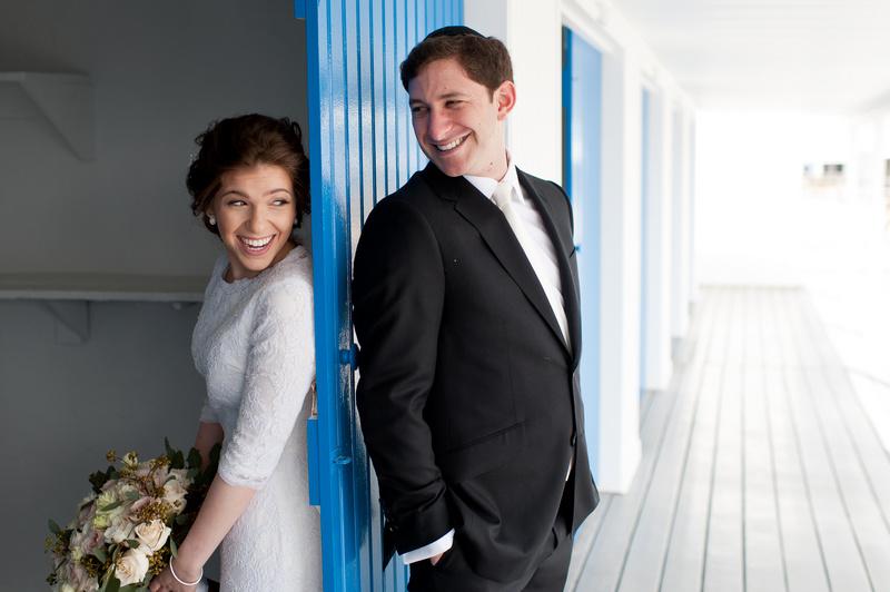 Danna and Eitan's Modern Orthodox Jewish Wedding at The Sands, Atlantic Beach, NY Photos by Chaim Schvarcz bride groom first look portraits couple