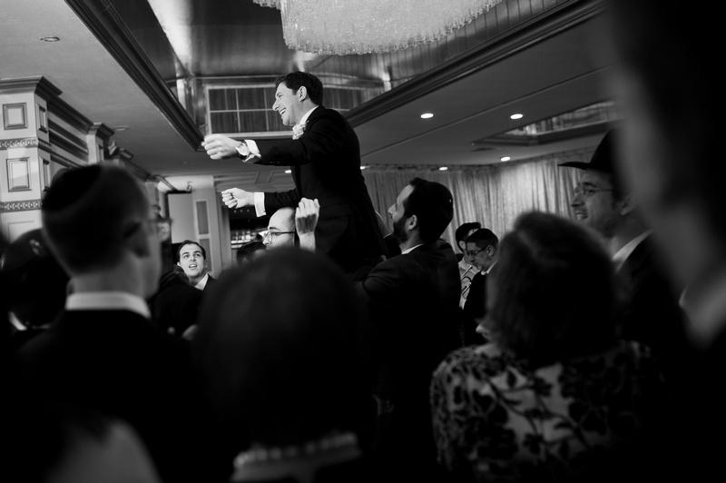Danna and Eitan's Modern Orthodox Jewish Wedding at The Sands, Atlantic Beach, NY Photos by Chaim Schvarcz bride groom badeken