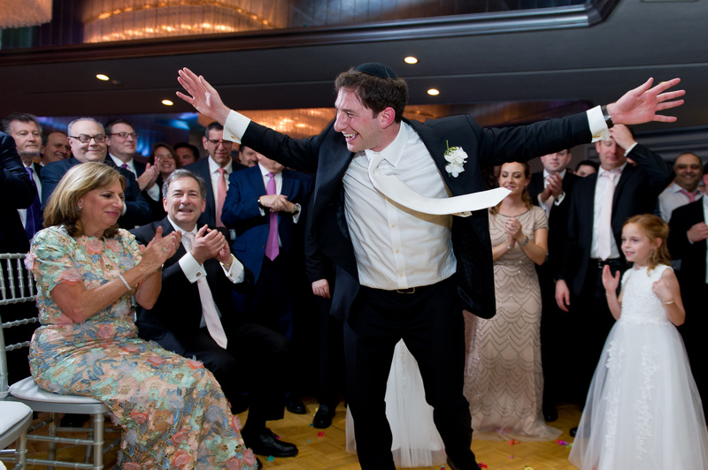 Danna and Eitan's Modern Orthodox Jewish Wedding at The Sands, Atlantic Beach, NY Photos by Chaim Schvarcz bride groom reception dancing family