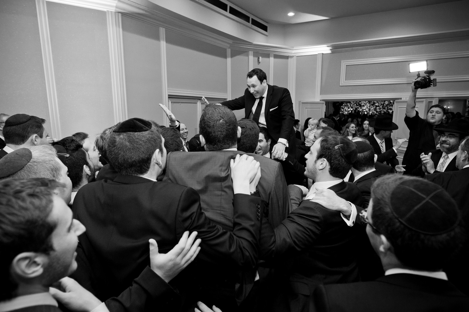Talya and Michael's Modern Orthodox Jewish Wedding at The Sands, Atlantic Beach, NY Photos by Chaim Schvarcz Bride and Groom Portraits family ceremony reception chuppah chuppa